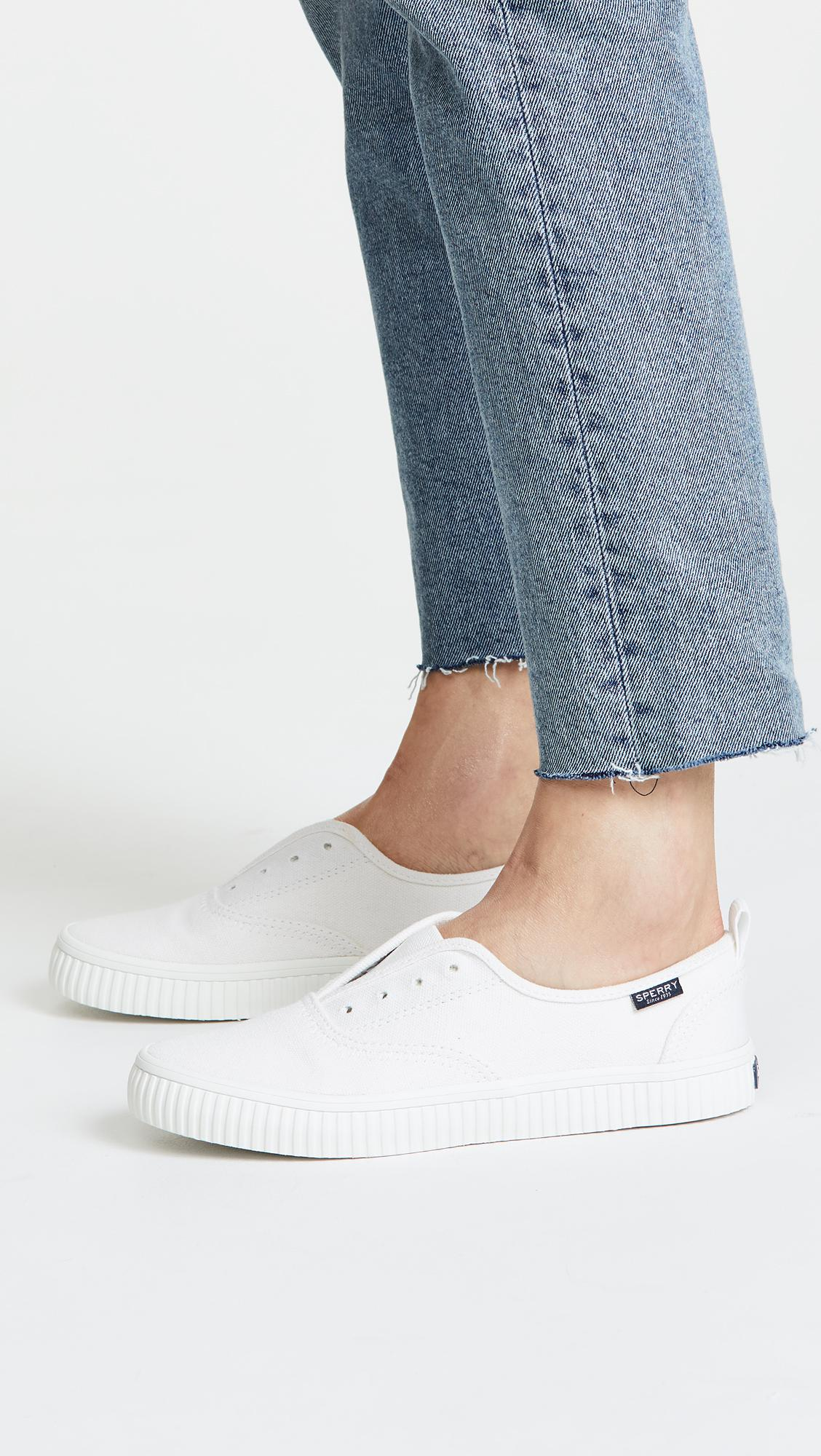Sperry Top-Sider Canvas Crest Creeper Cvo Sneakers in White