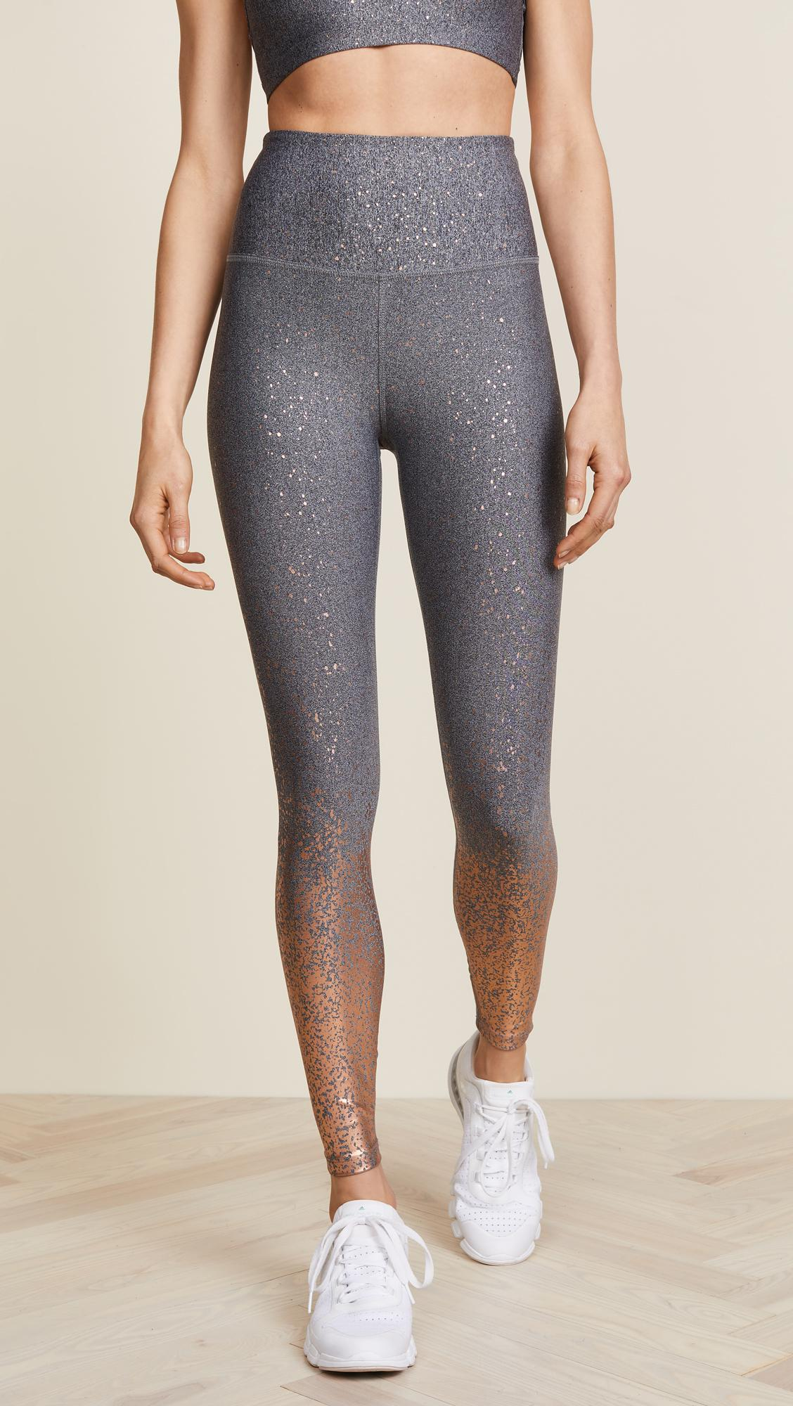 14c0c64191 Beyond Yoga Alloy Ombre High Waisted Leggings in Black - Lyst