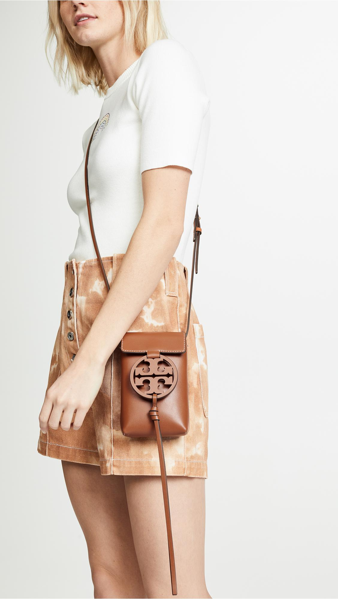 7b130e20925 Tory Burch - Multicolor Miller Phone Crossbody Phone Pouch - Lyst. View  fullscreen
