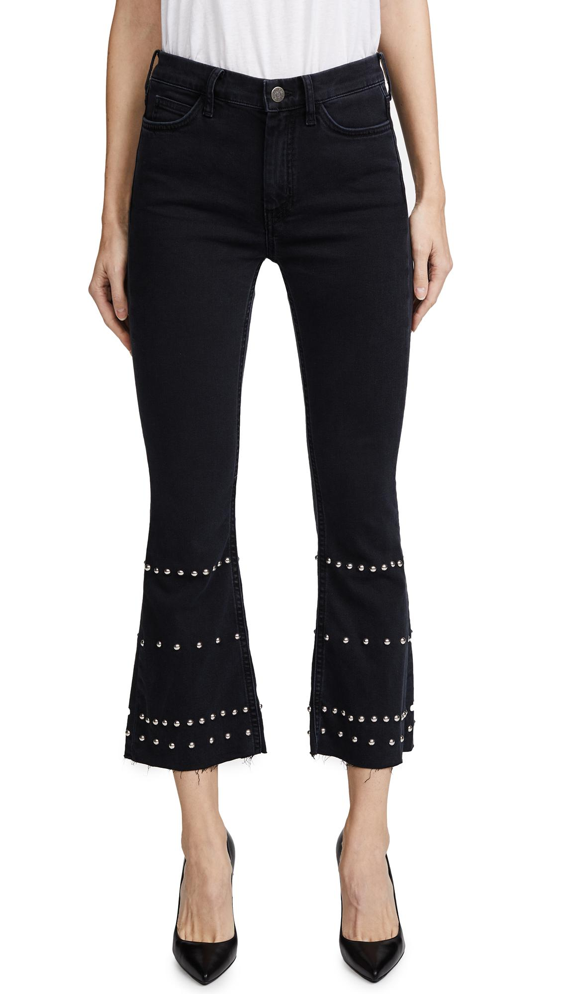 M.i.h Jeans Denim Marty Studded Jeans in Black
