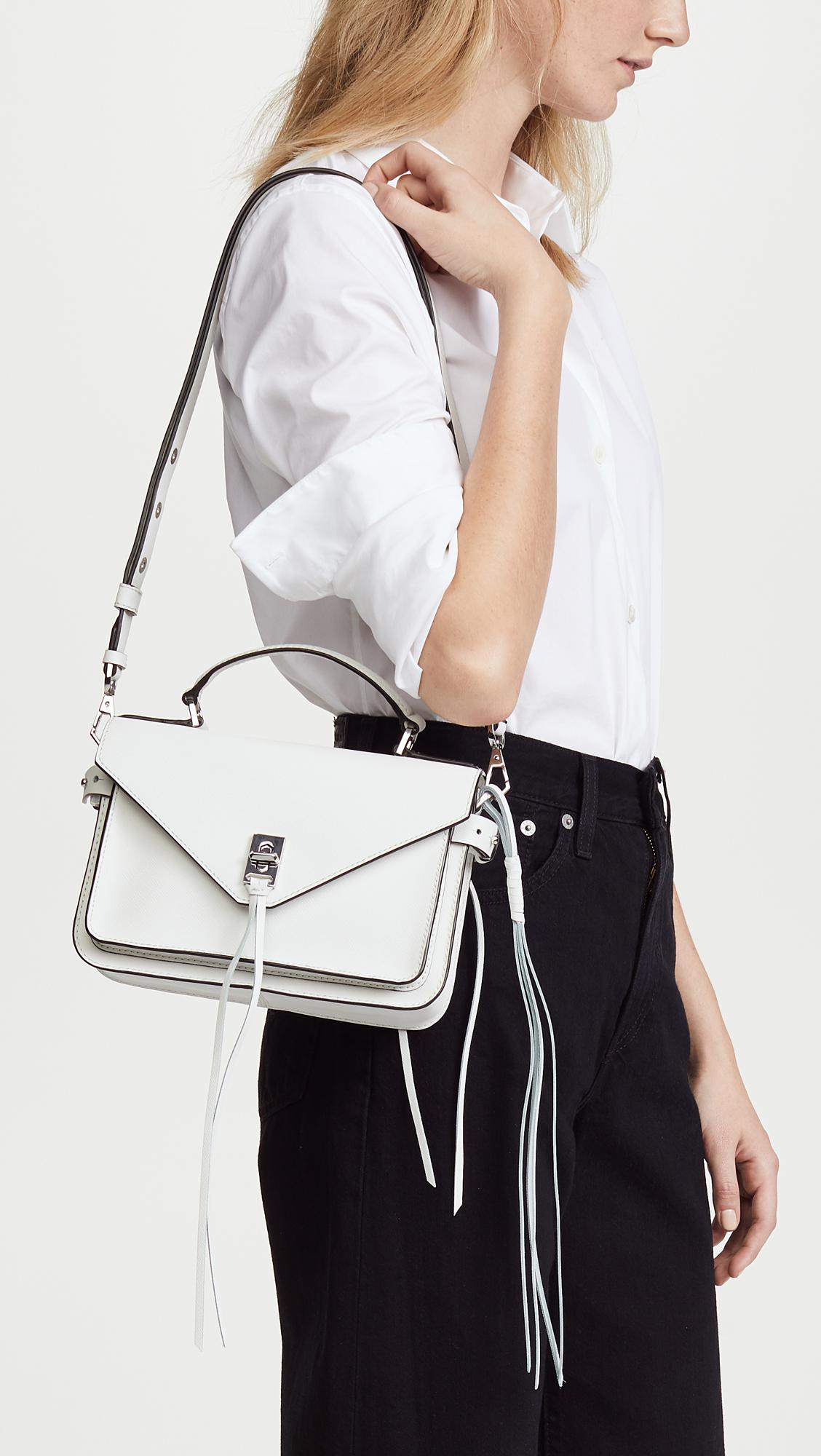 ab83541ec4 Lyst - Rebecca Minkoff Small Darren Messenger Bag in White