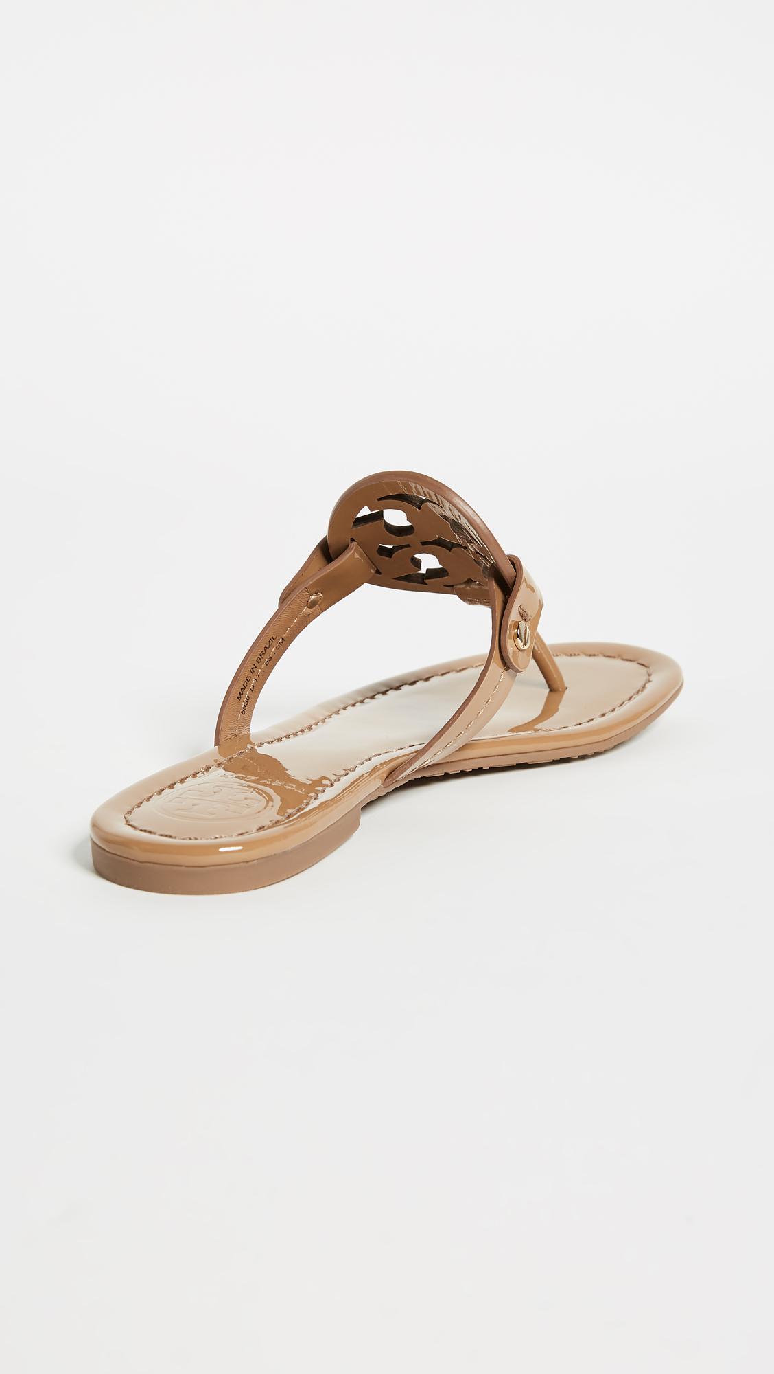 8e4502411fc4 Tory Burch - Black Miller Thong Sandals - Lyst. View fullscreen