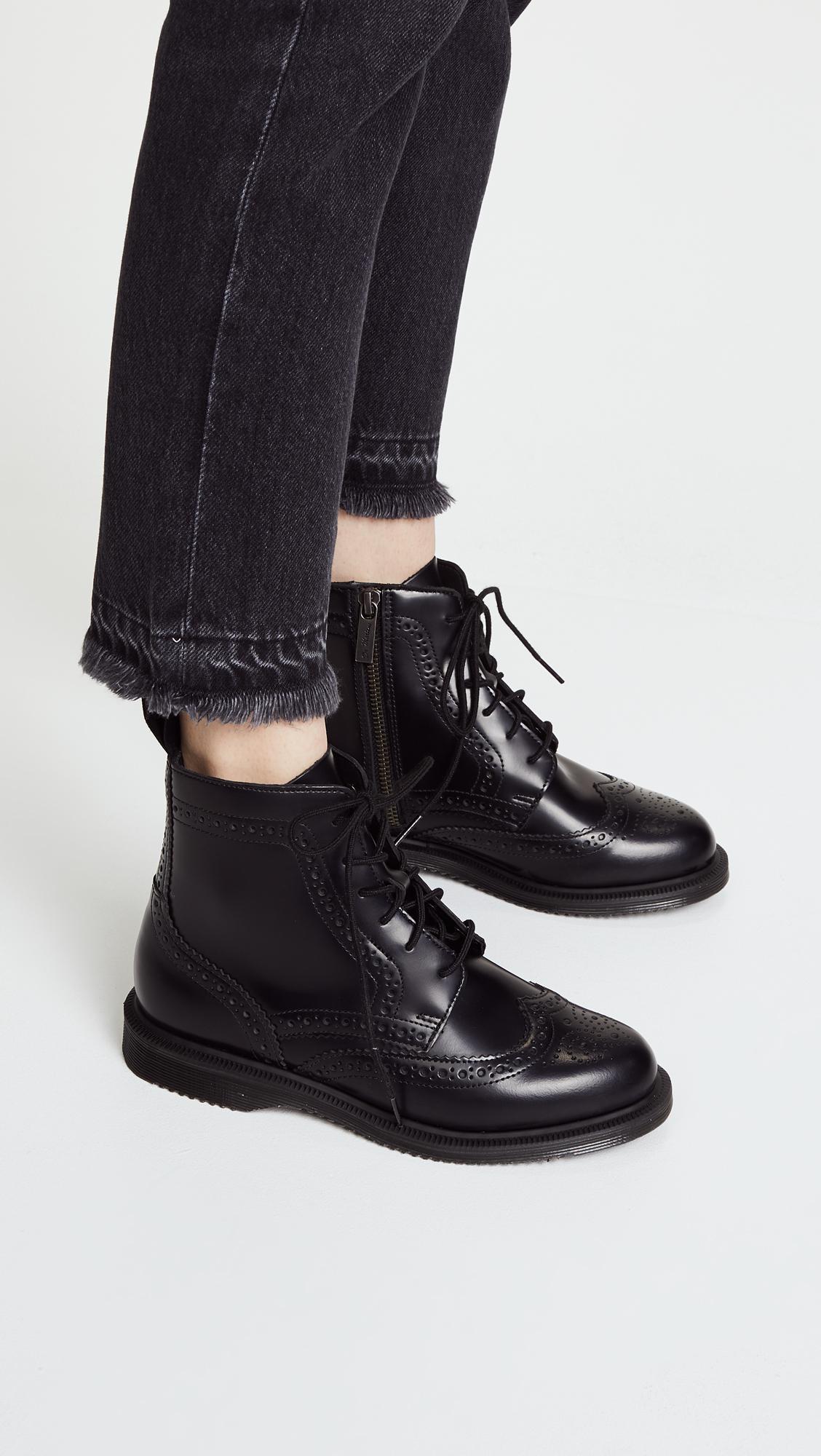 07a8d11cc4b Dr. Martens - Black Delphine Brogue Boots - Lyst. View fullscreen