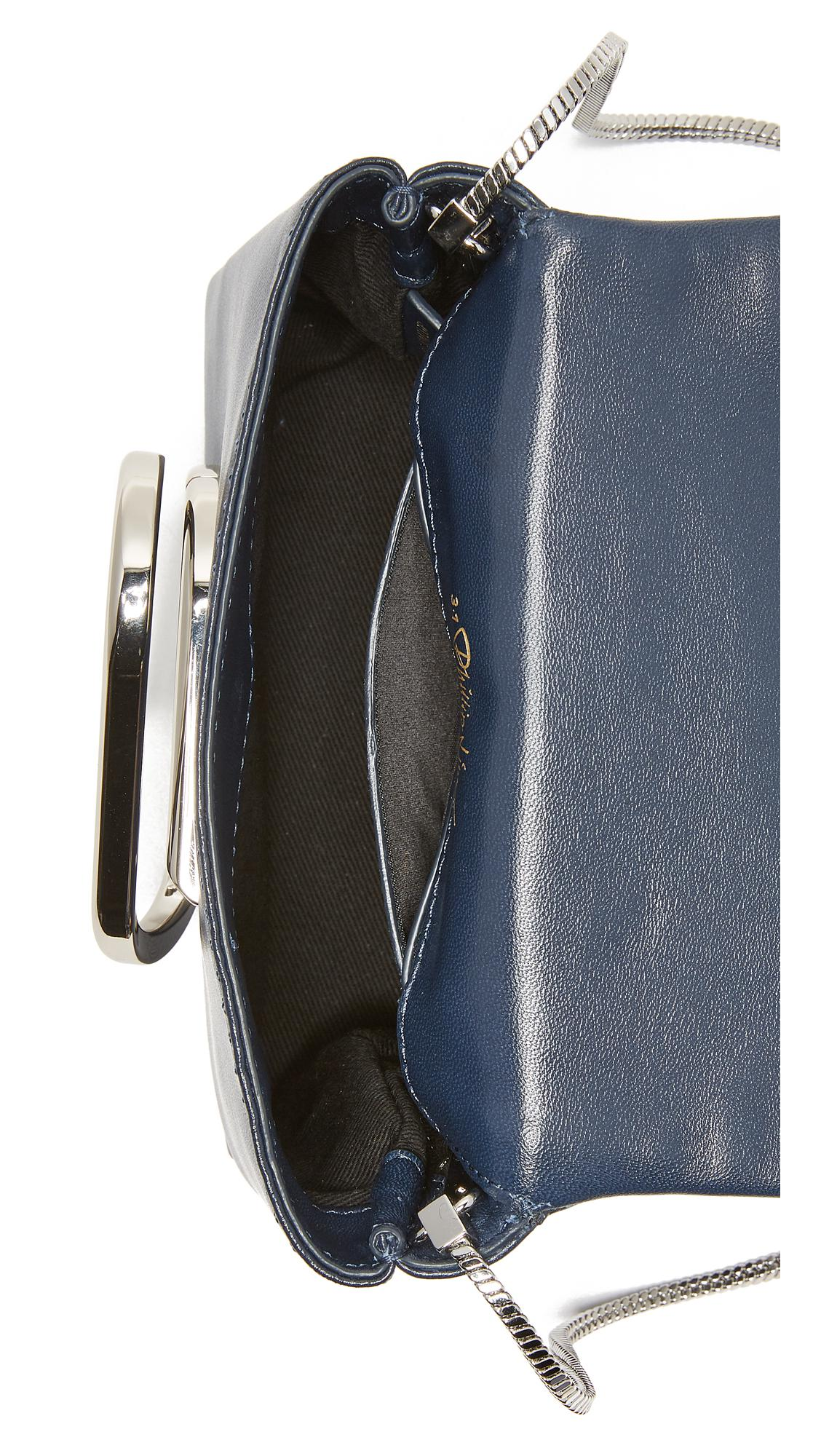 3.1 Phillip Lim Leather Alix Micro Cross Body Bag in Navy (Blue)