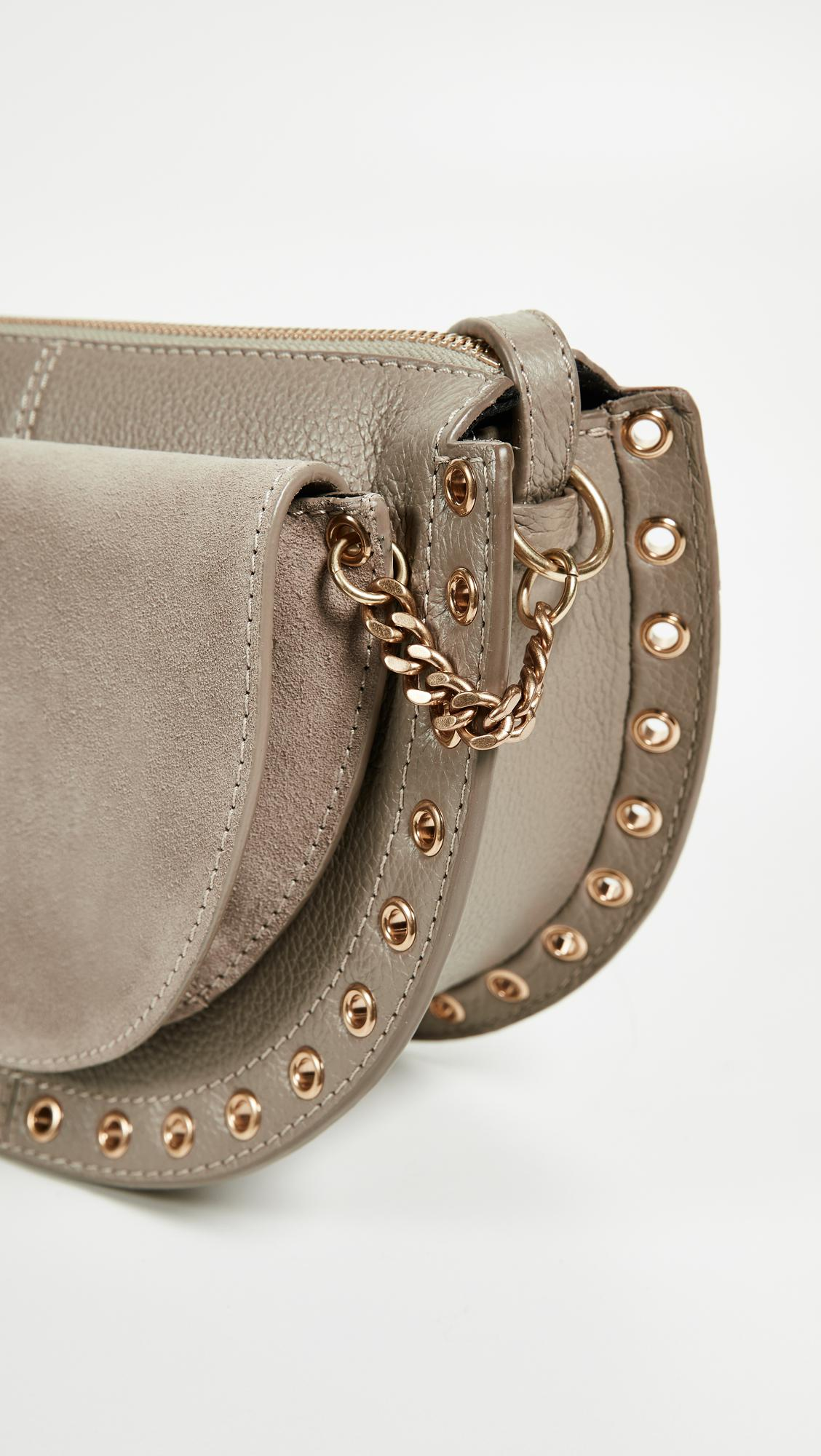 See By Chloé Leather Kriss Cross Body Bag in Grey
