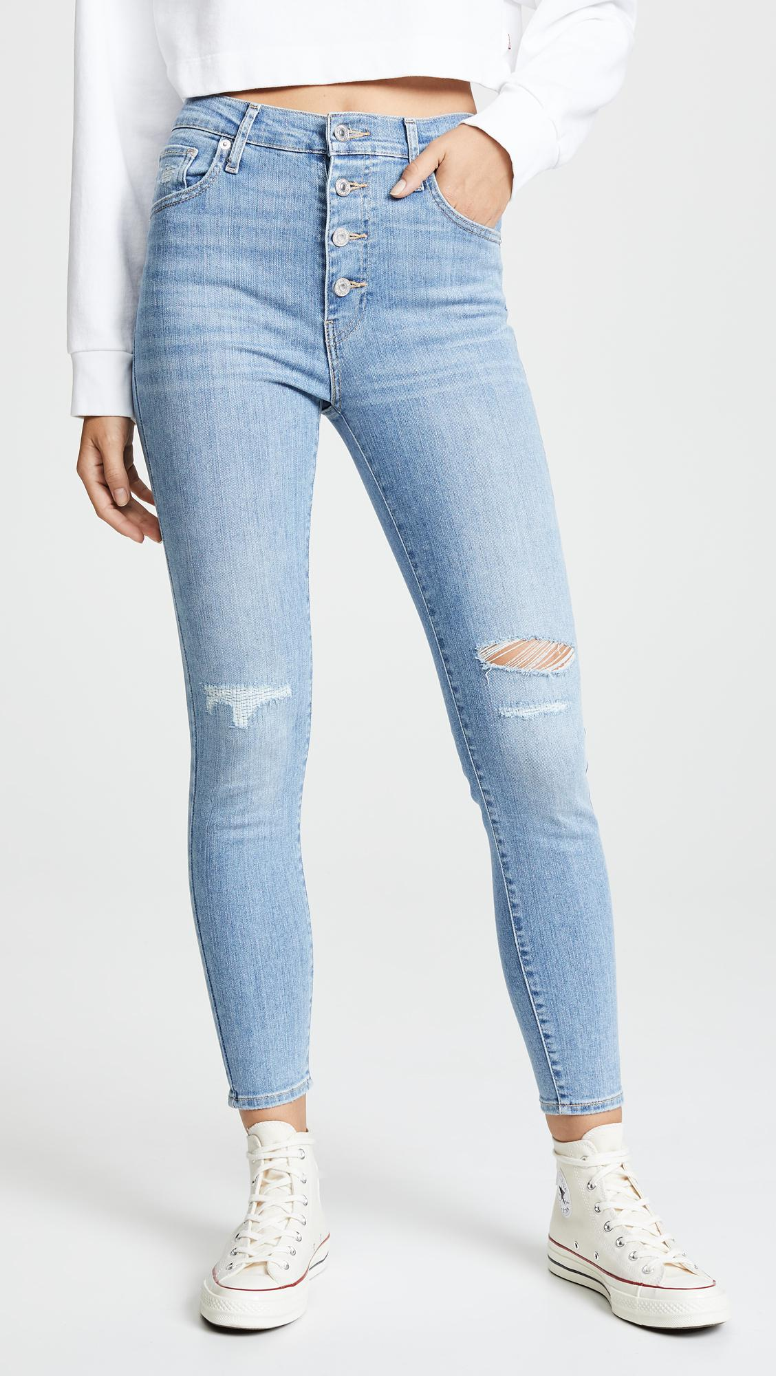 d36ae1f230e1de Levi's Mile High Super Skinny Ankle Jeans in Blue - Lyst
