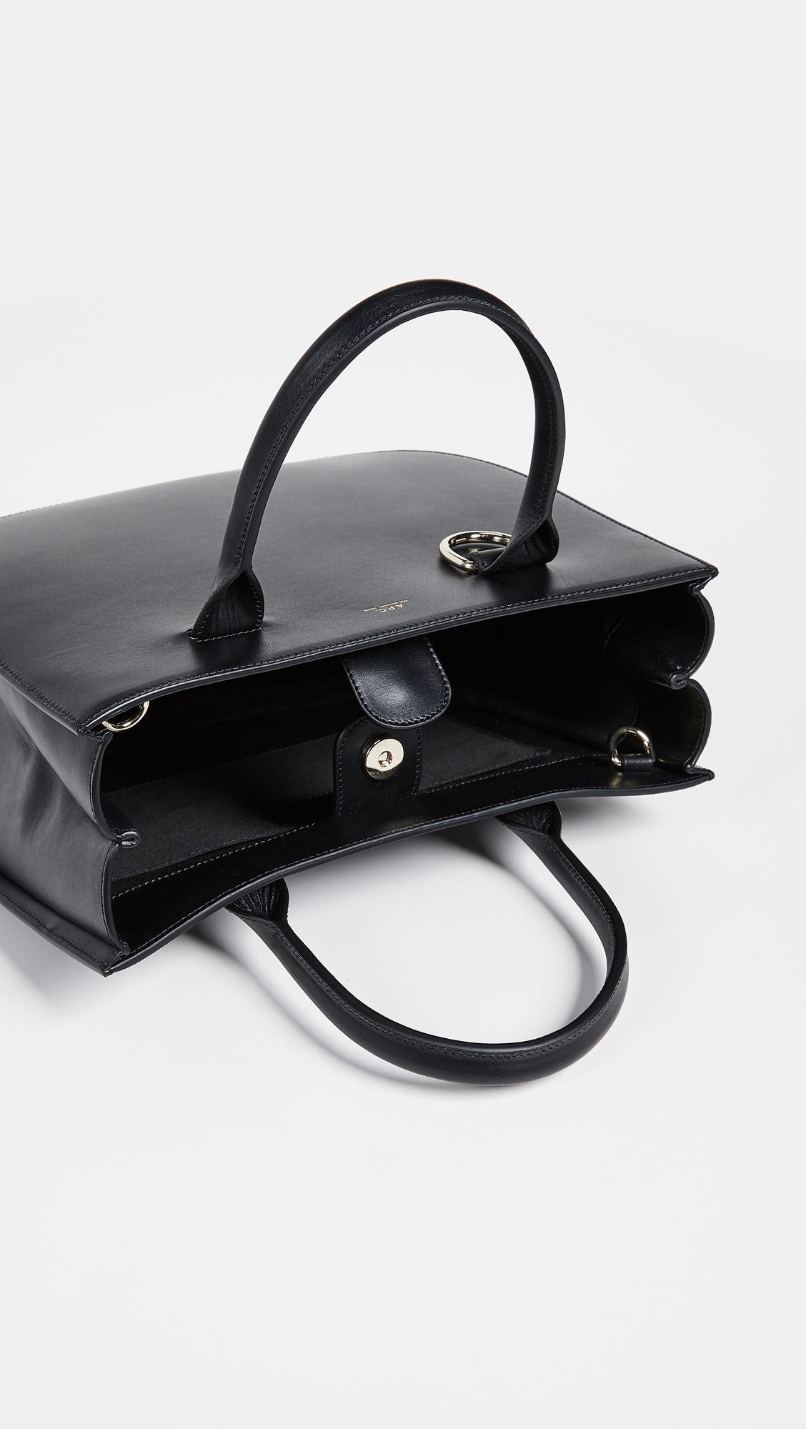 A.P.C. Leather Marion Tote Bag in Black