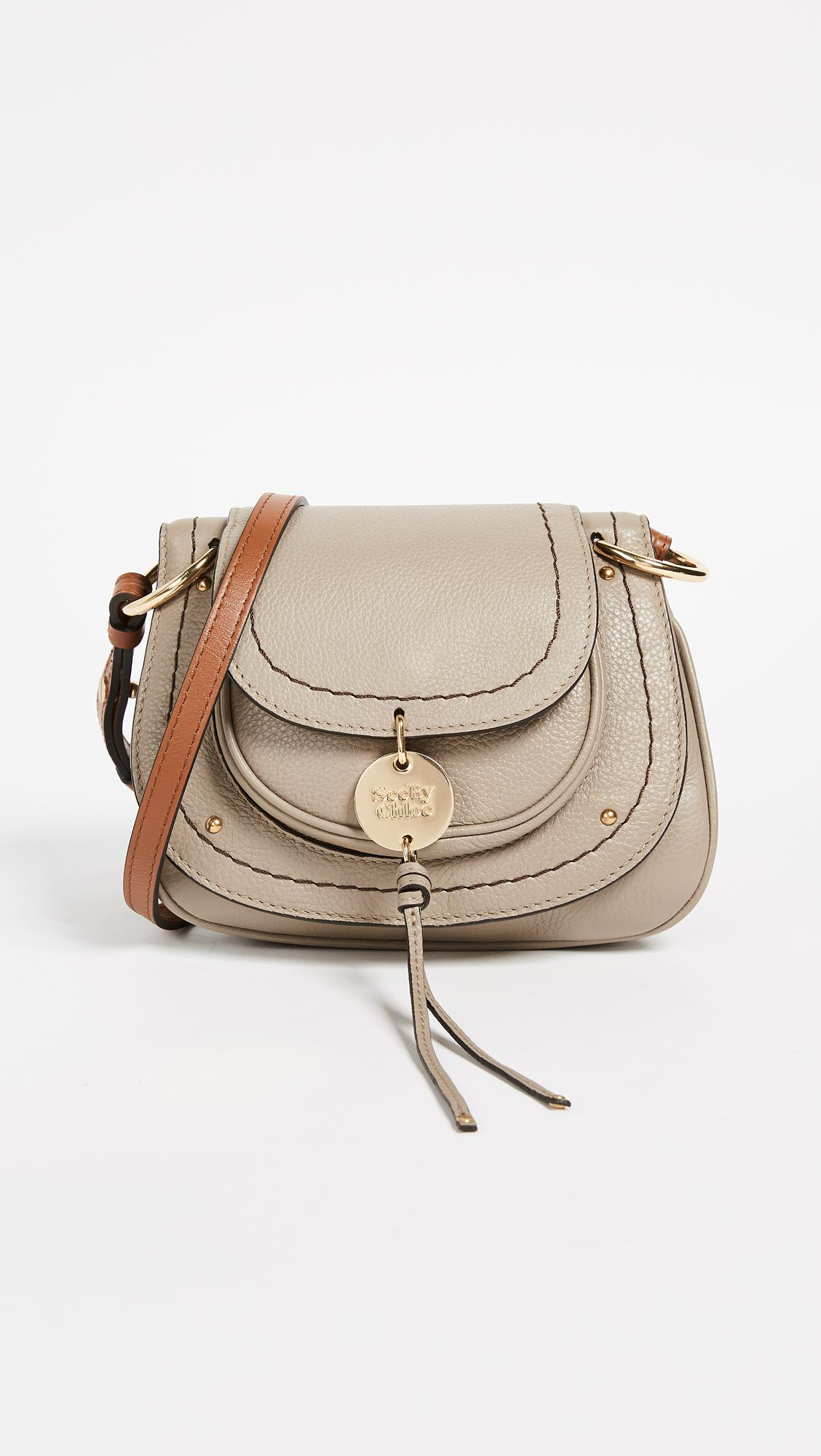1f3746ac7d3a Lyst - See By Chloé Susie Small Saddle Bag in Gray