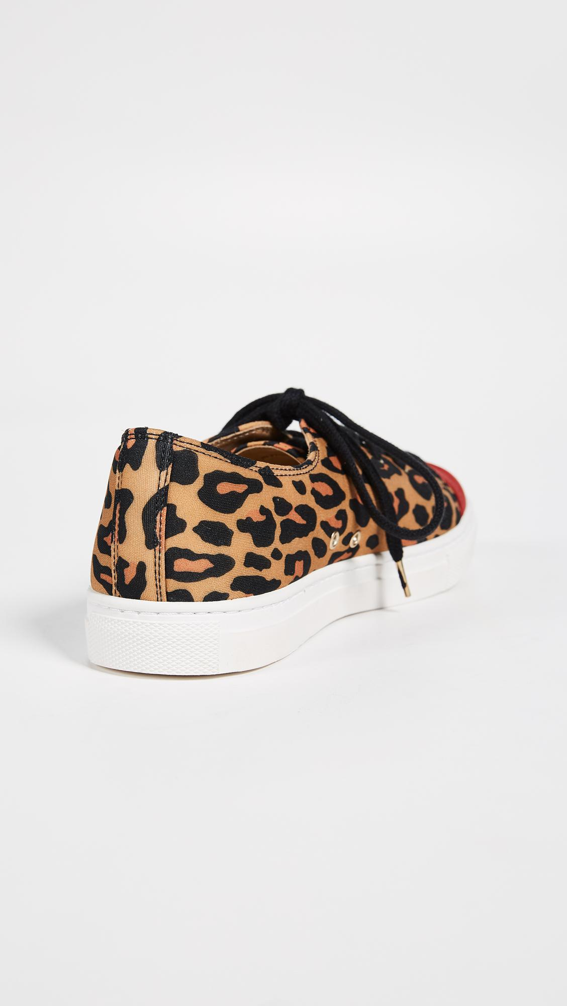 Charlotte Olympia Leather Kiss Me Sneakers