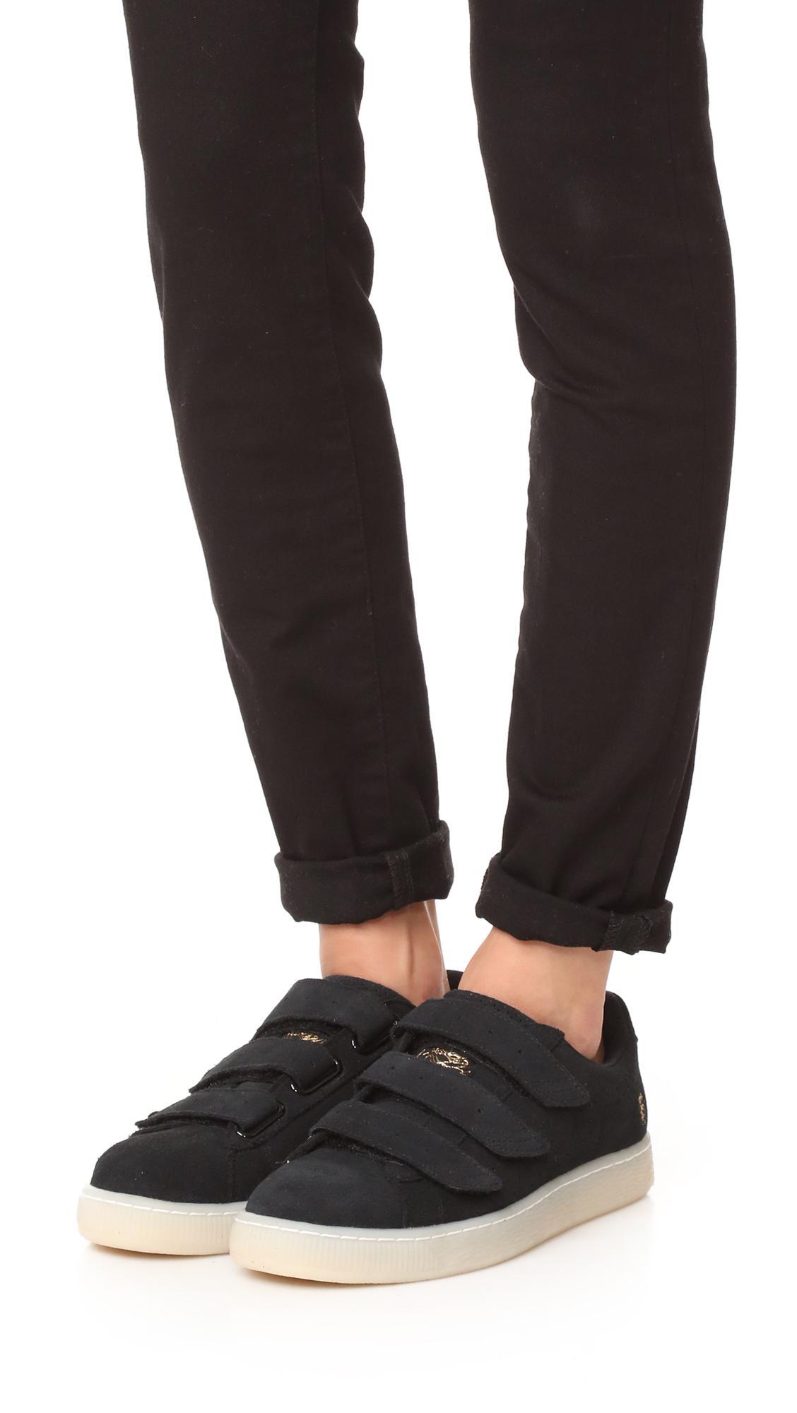PUMA Suede X Careaux Basket Velcro Sneakers in Black - Lyst