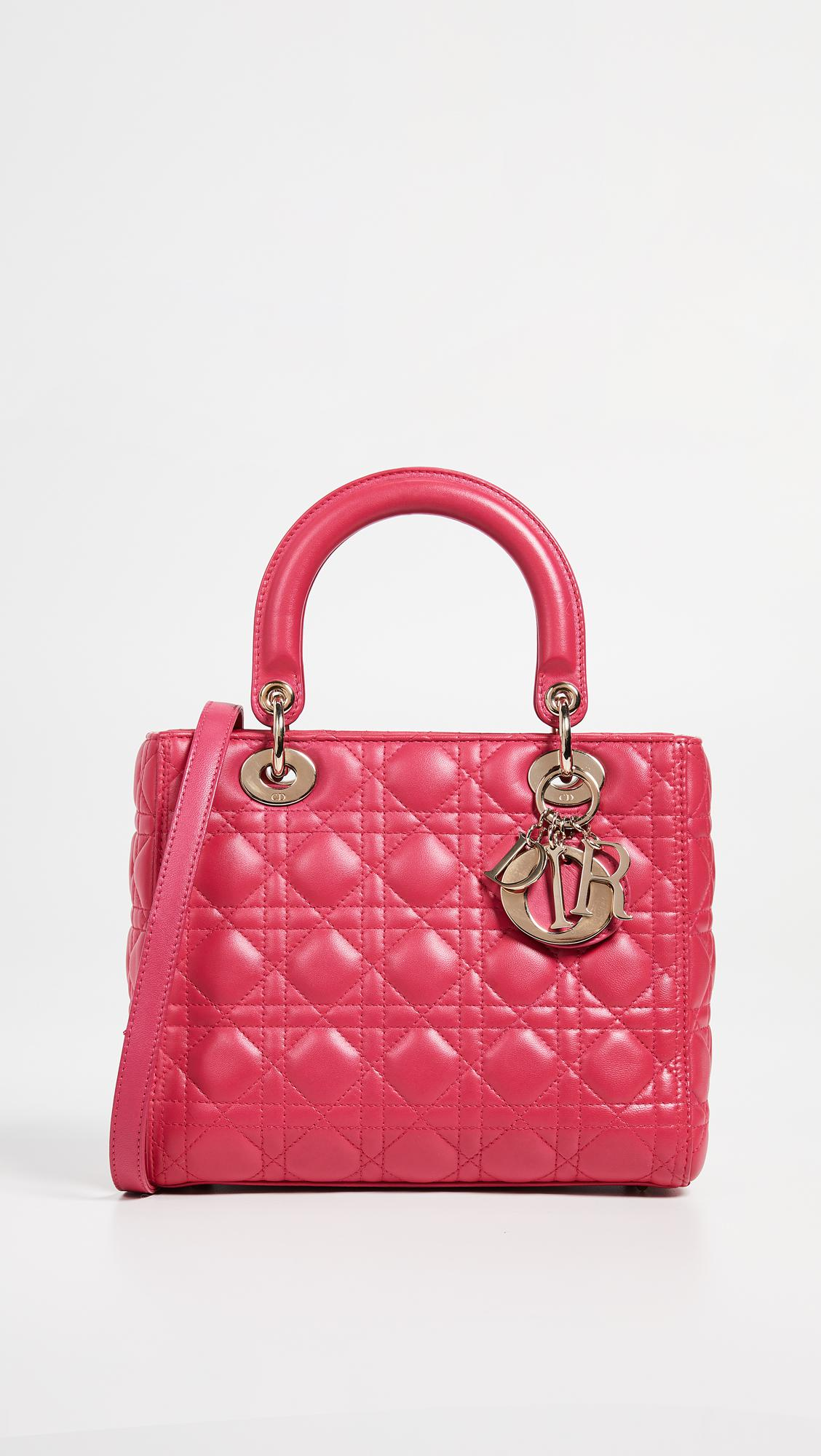 02d2b98e692d What Goes Around Comes Around Dior Lady Dior Bag in Pink - Lyst