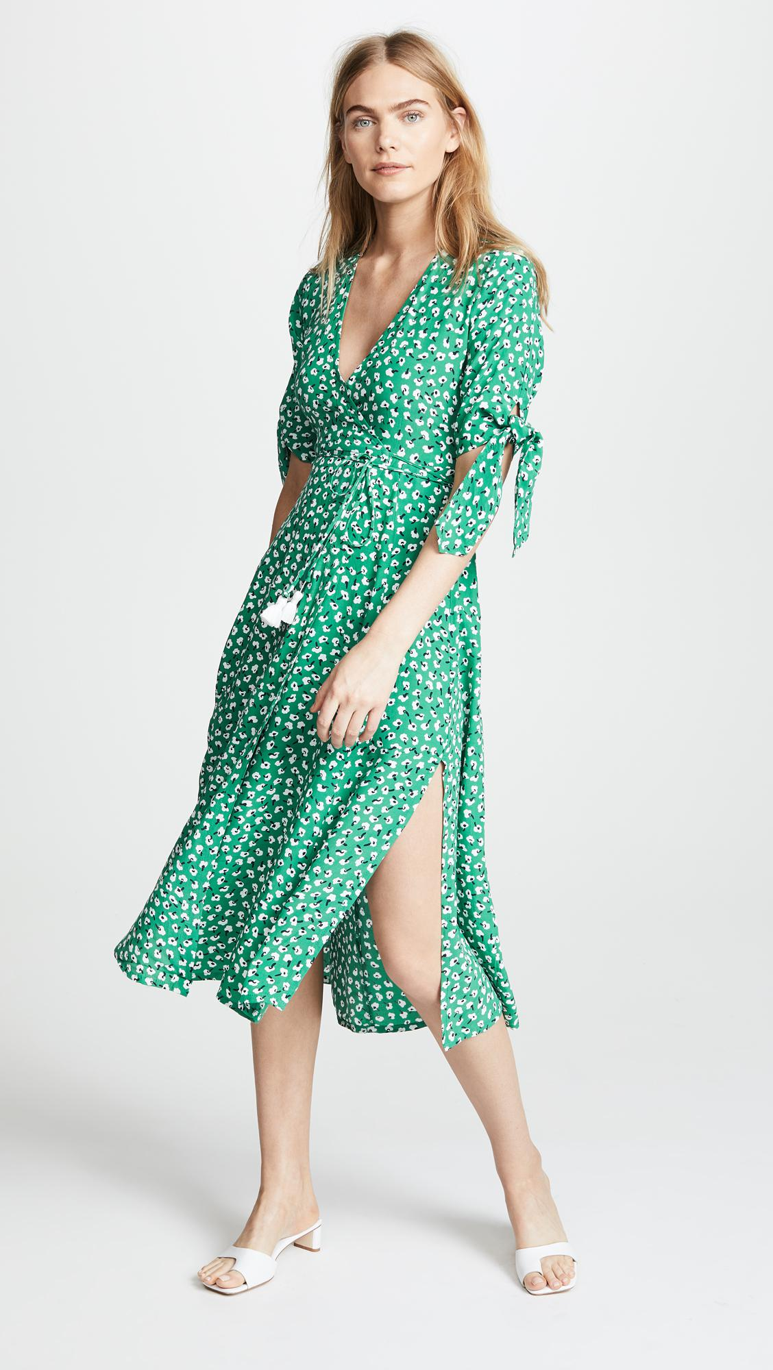 afec6d460ea0 Lyst - Faithfull The Brand Melodie Midi Dress in Green