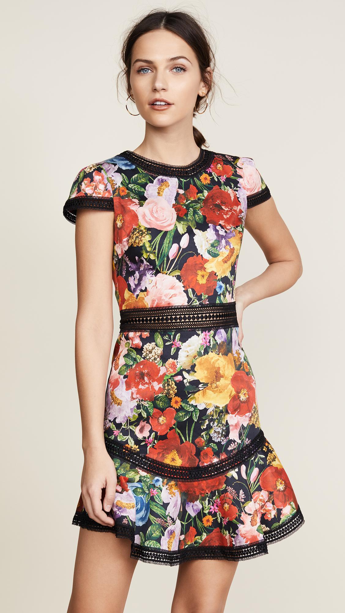 Alice Olivia Rapunzel Flutter Dress Lyst