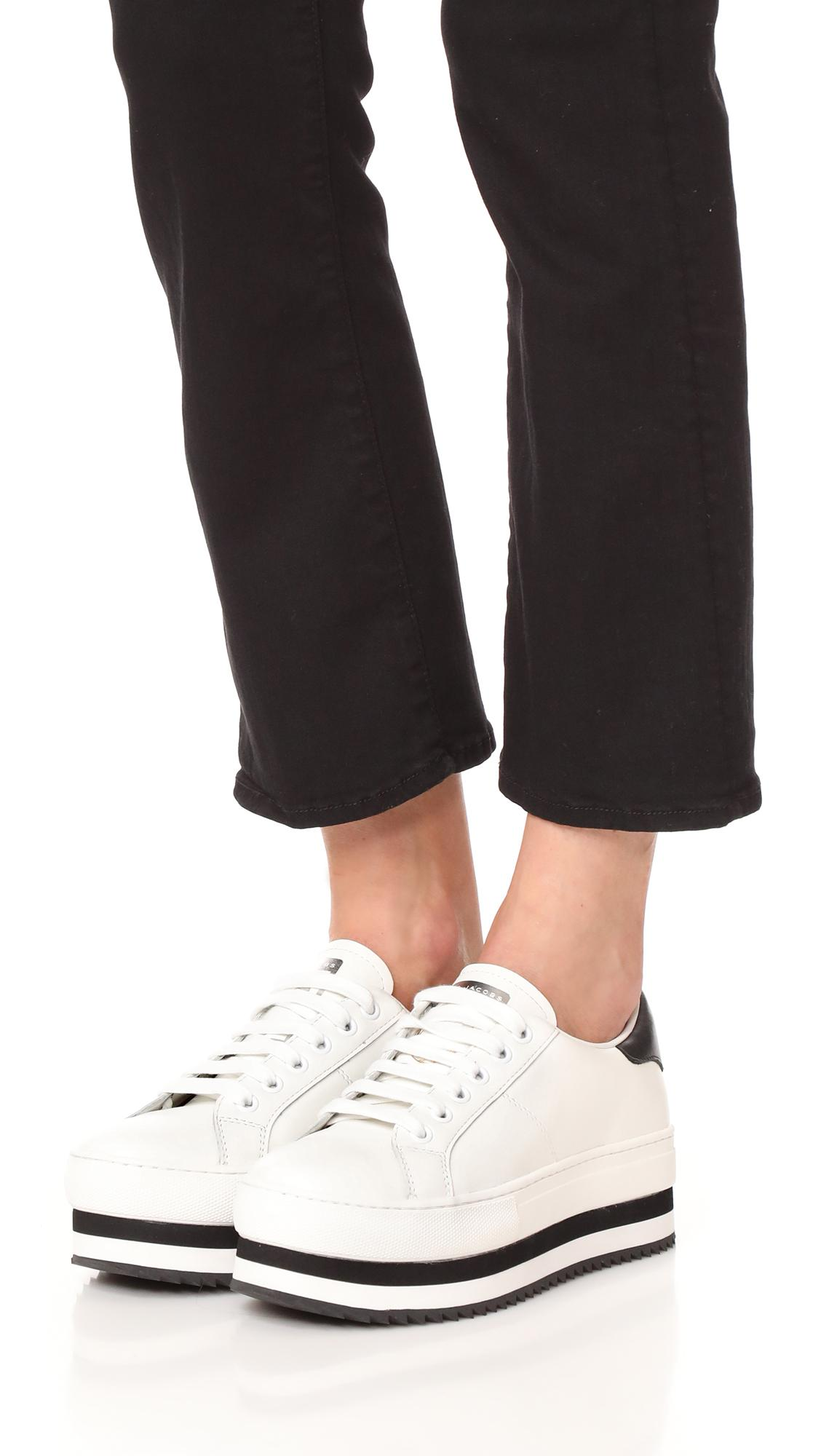 21abc7cae044 Lyst - Marc Jacobs Grand Platform Sneakers in White