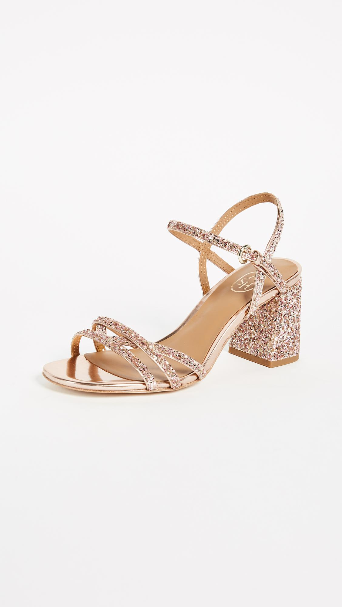 45be5ce906e Lyst - Ash Sparkle Sandals in Pink