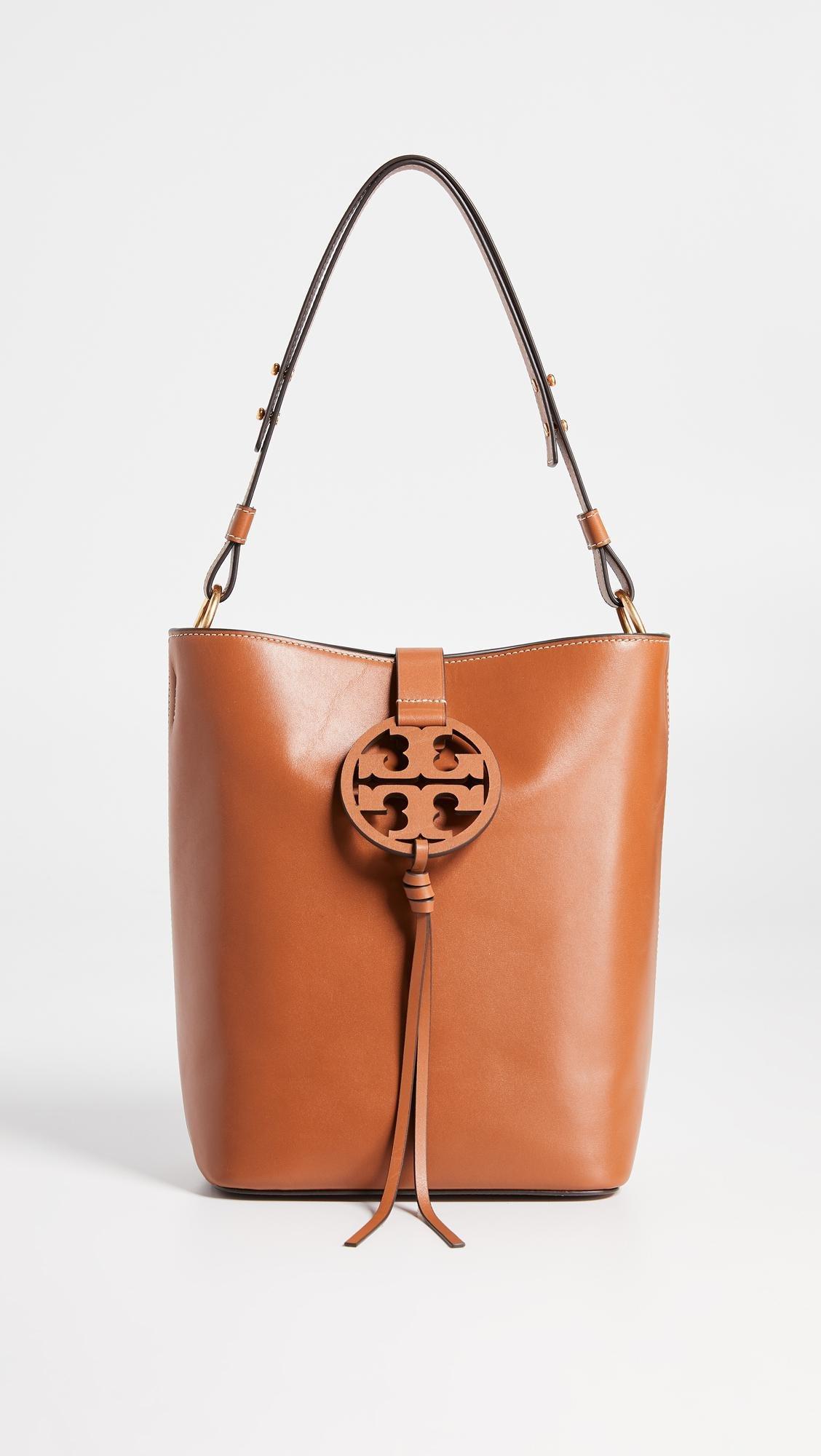 a6782f133e1a Lyst - Tory Burch Miller Hobo Bag in Brown