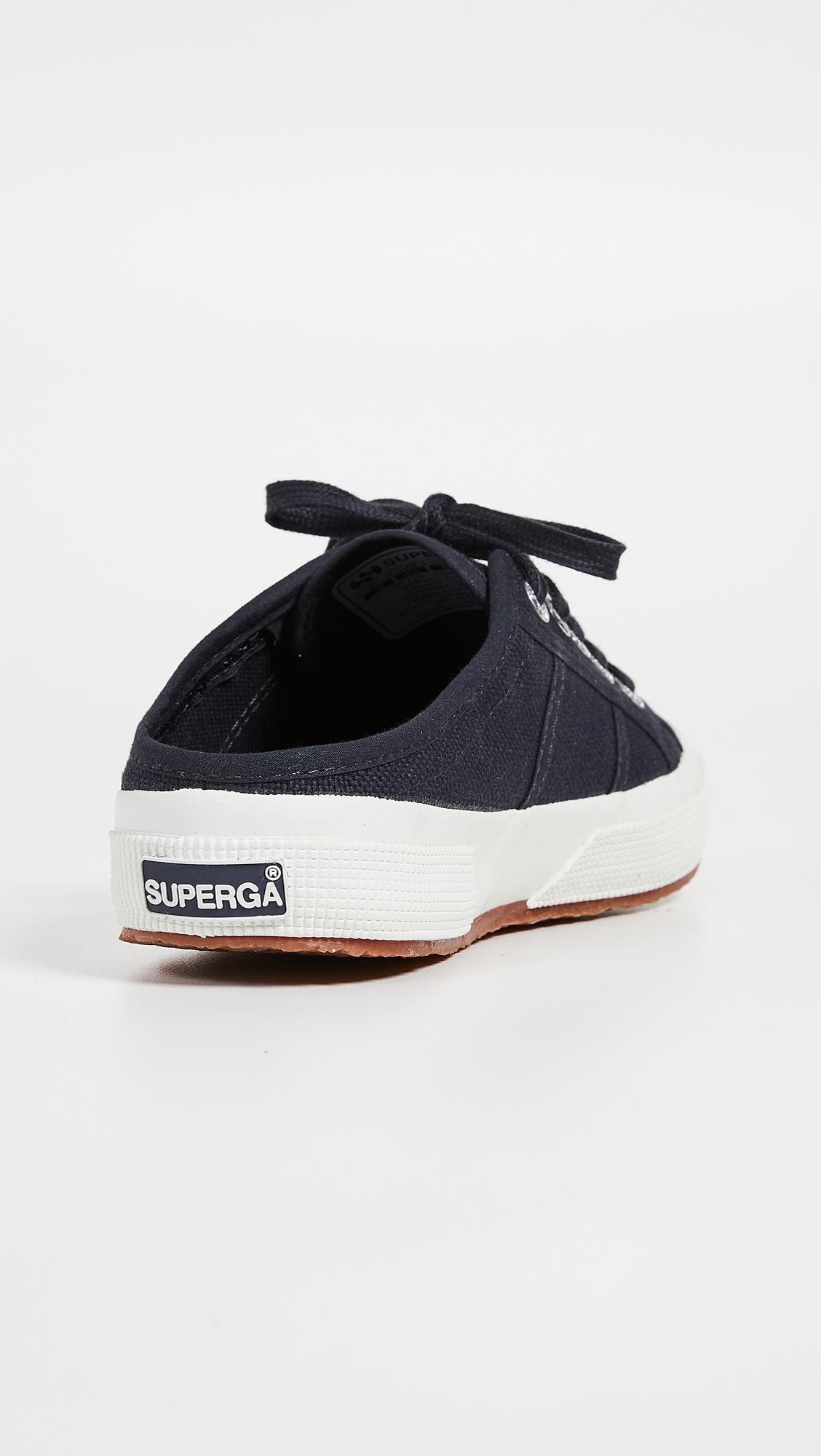 Superga Canvas 2551 Cotu Mule Sneakers in Blue Graphite (Blue)