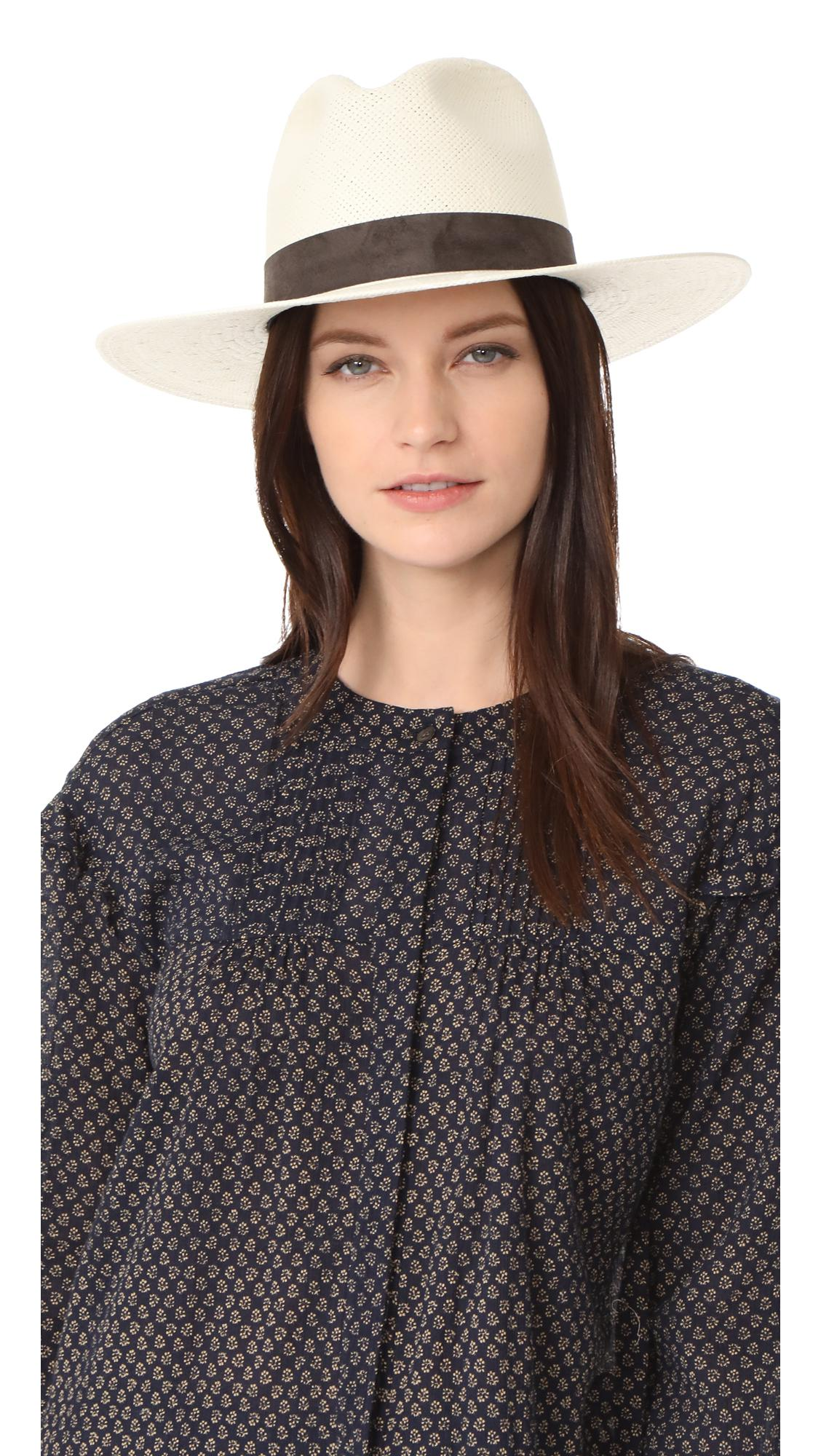 10cf2662a1917 Janessa Leone. Women s Packable Marcell Short Brimmed Fedora