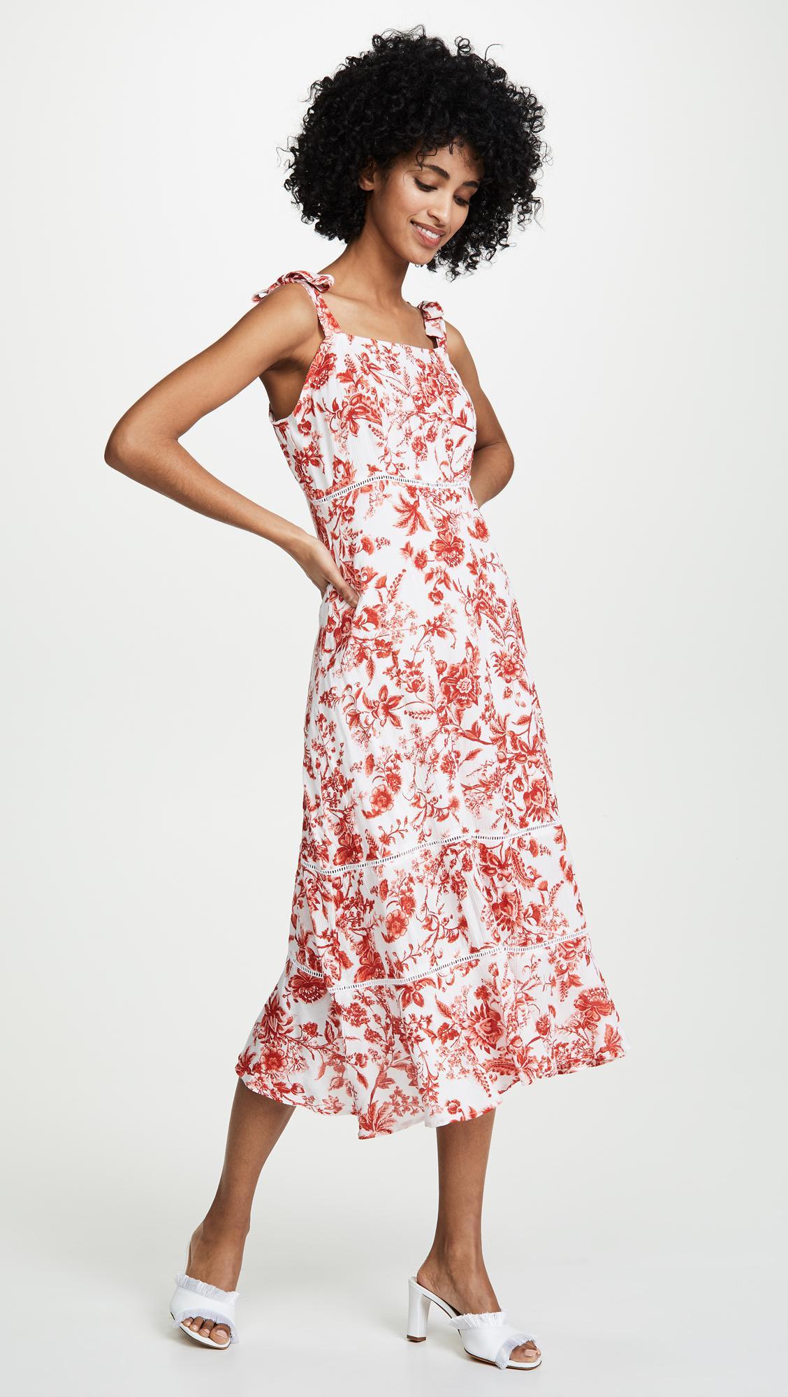 ead7ac9e01f Valencia   Vine Clarisse Dress in Red - Lyst