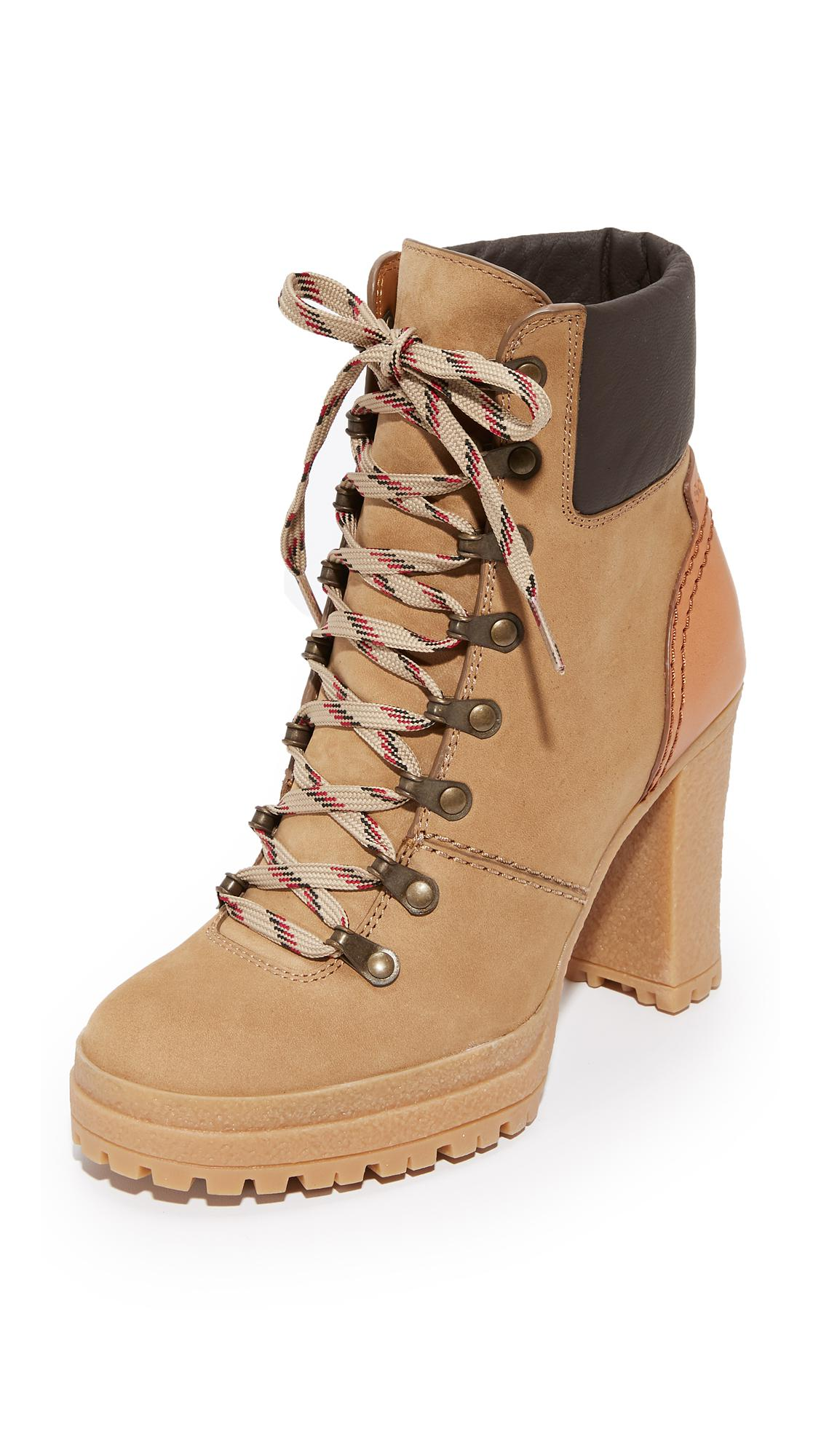 7502dc32cd78 Lyst - See By Chloé Eileen Lace Up Boots