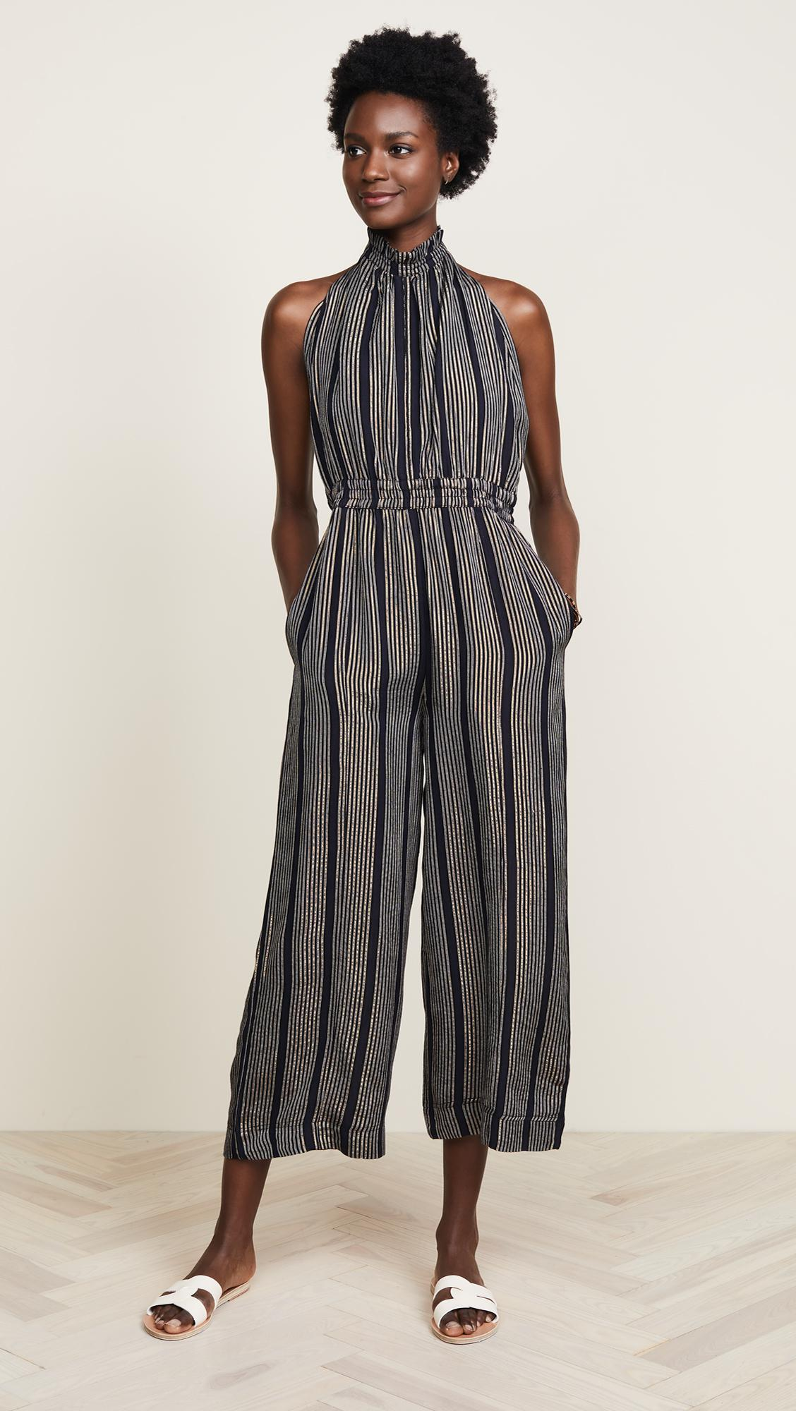 d4ad96dd403 Apiece Apart Archer Backless Jumpsuit in Black - Lyst