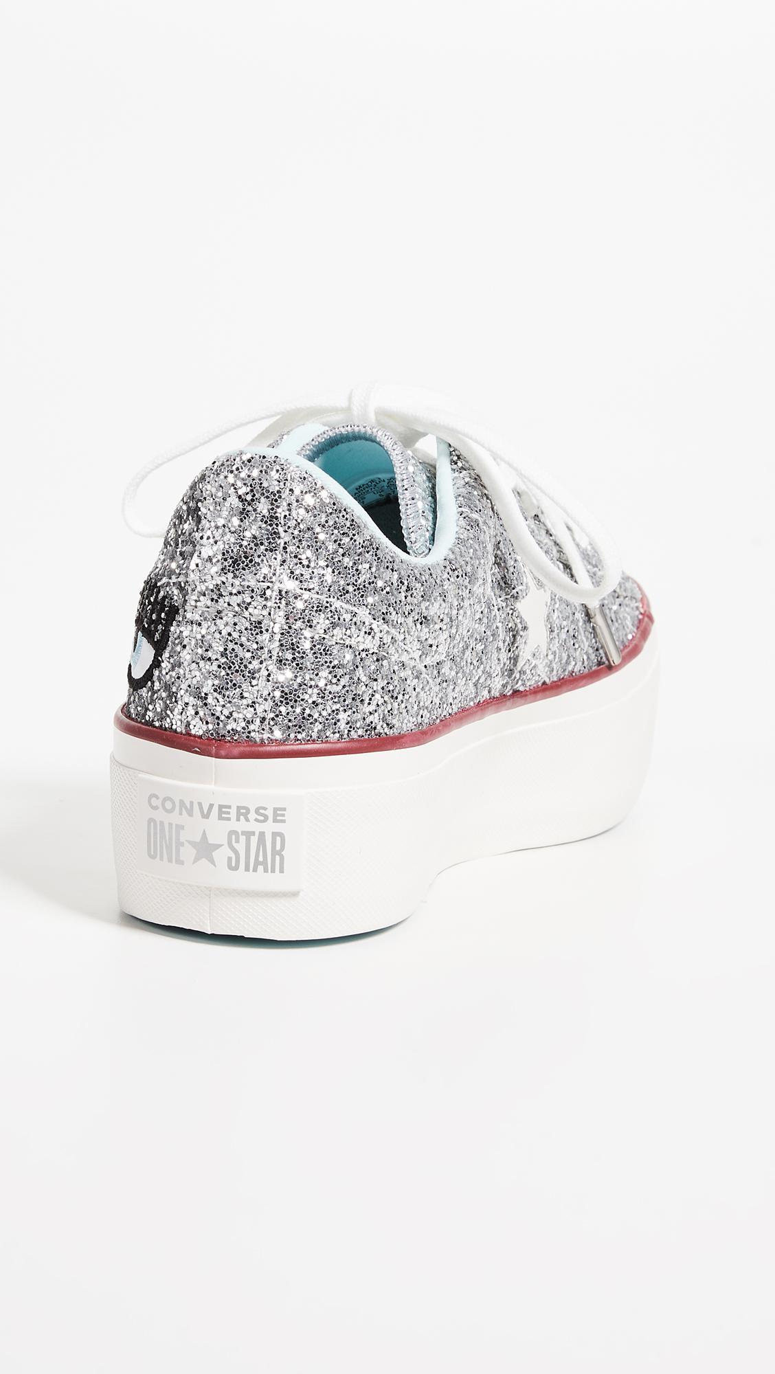 Converse Rubber X Chiara Ferragni Sneakers in Silver (Metallic)