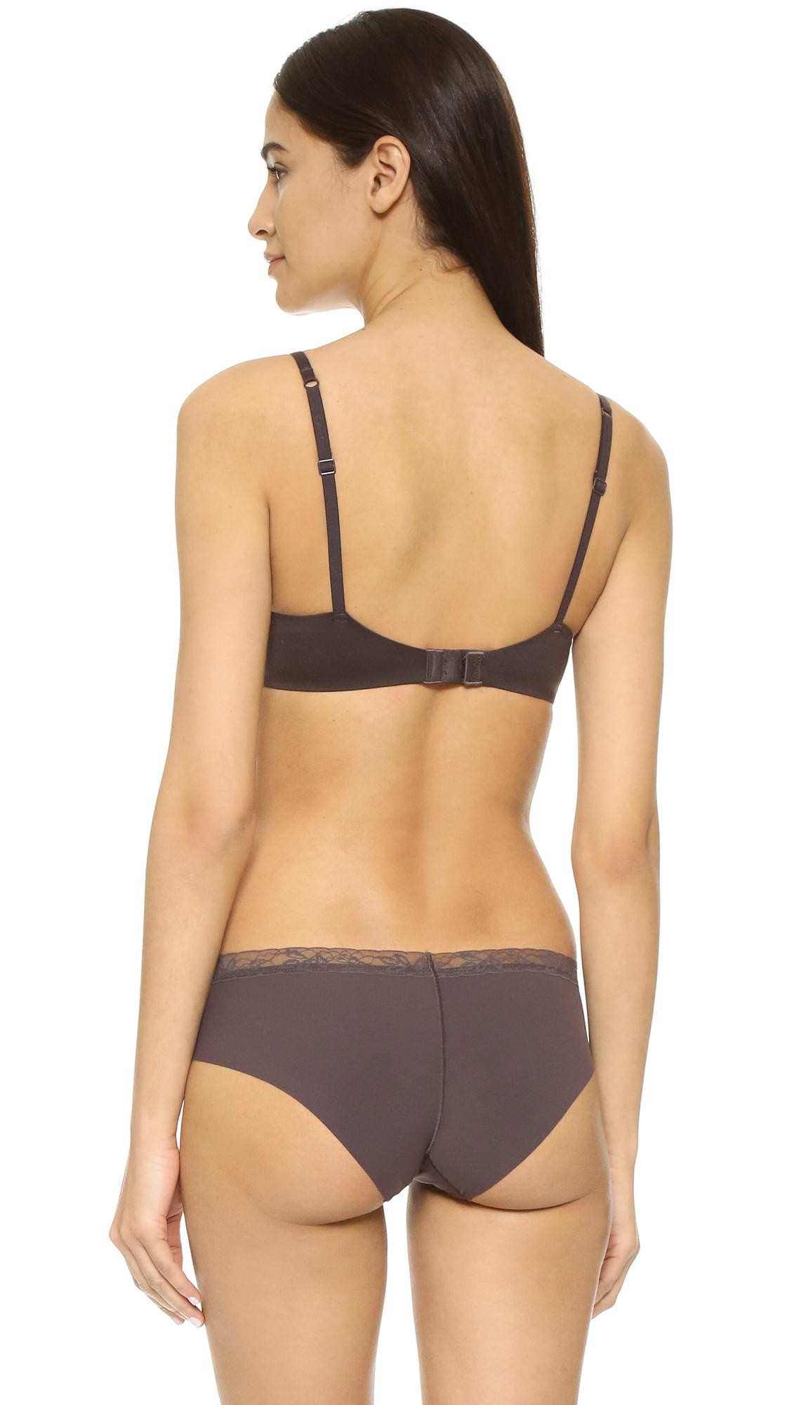 lyst calvin klein perfectly fit modern t shirt bra in brown. Black Bedroom Furniture Sets. Home Design Ideas