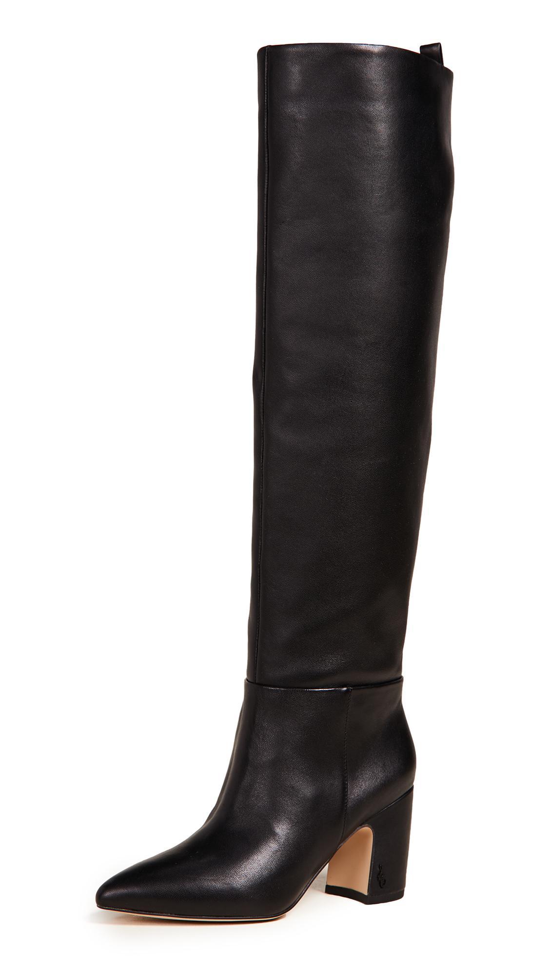 fbfb273fa27ef4 Sam Edelman Hutton Tall Boots in Black - Lyst
