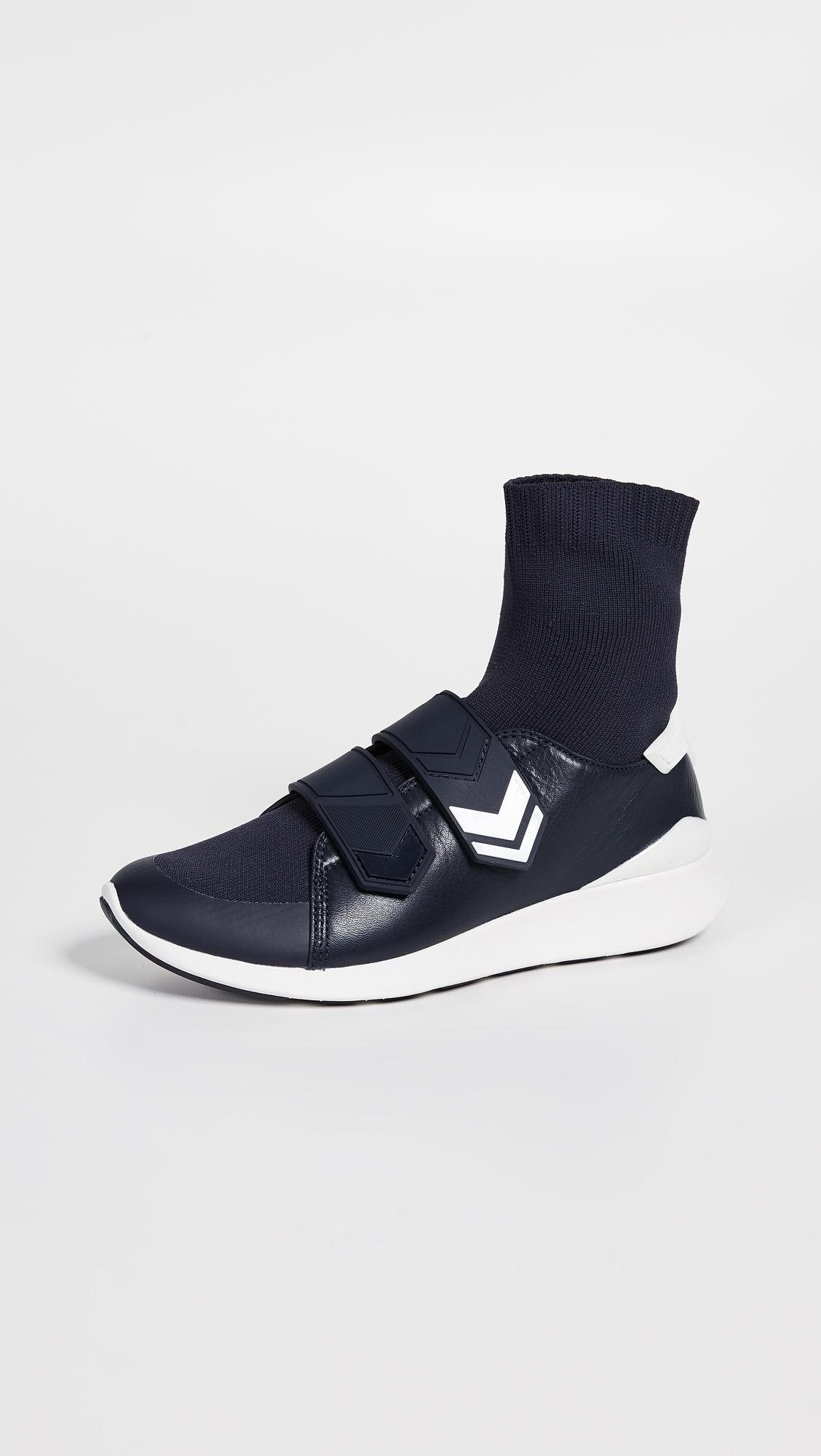 76c7708f2595 Tory Sport Chevron Sock Sneaker in Blue - Save 68% - Lyst