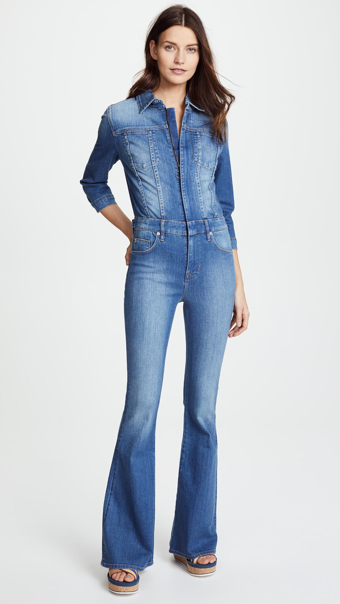 c0ff0a91499 Lyst - Hudson Jeans Holly Long Sleeve Jumpsuit in Blue