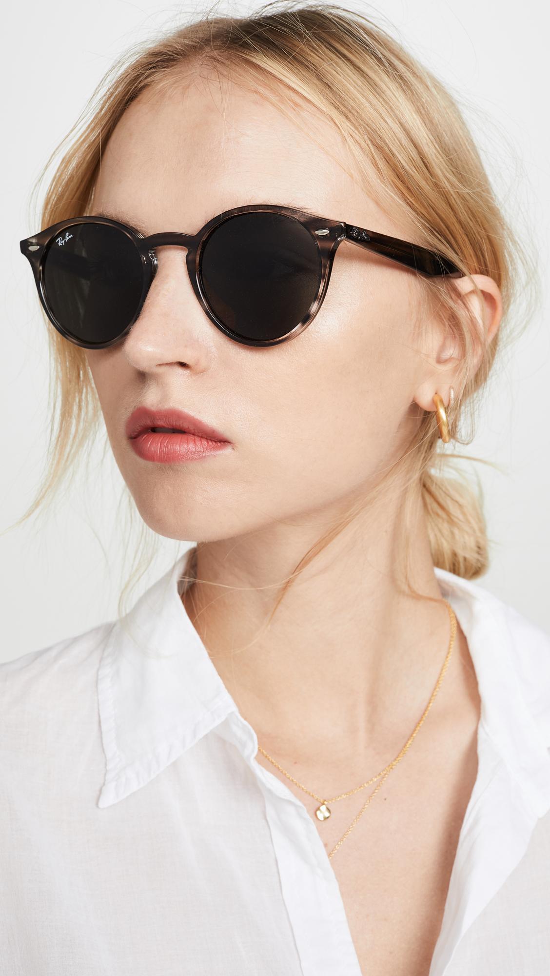 Ray Ban Highstreet Round Phantos Sunglasses In Grey Lyst