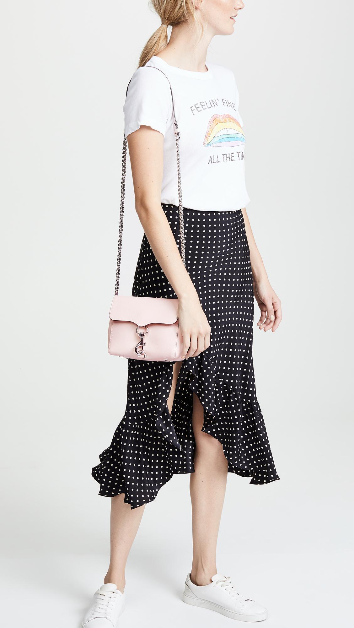 d55859ac1fb60 Rebecca Minkoff Stella Cross Body Bag in Pink - Lyst