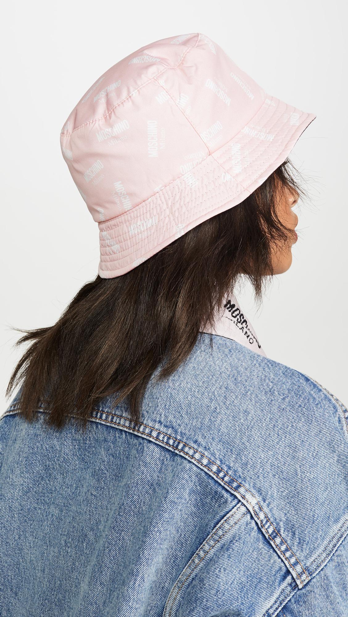 fb6df4603 Women's Pink Logo Print Bucket Hat