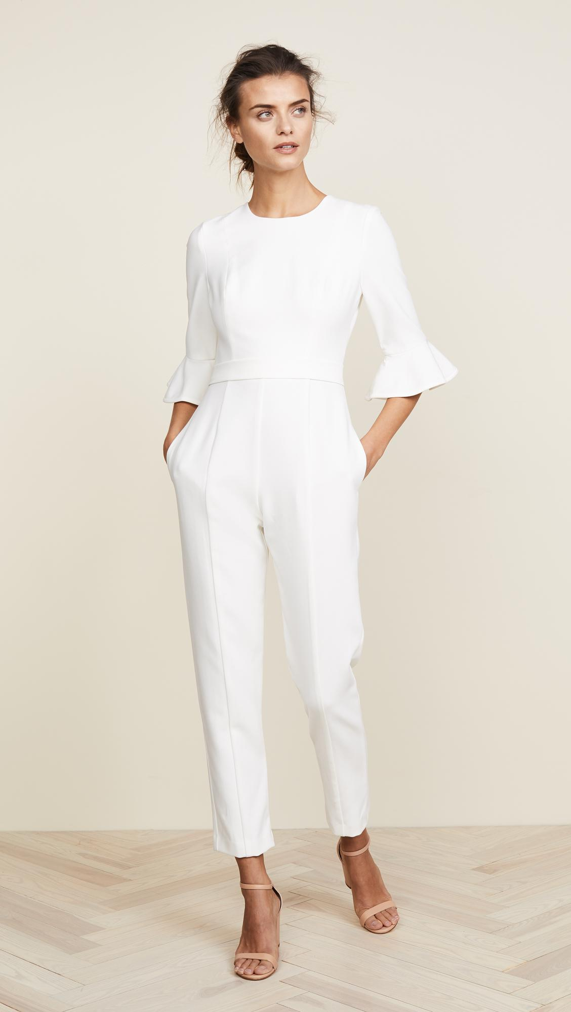 Black Halo Brooklyn Jumpsuit In White Save 7612456747404849 Lyst