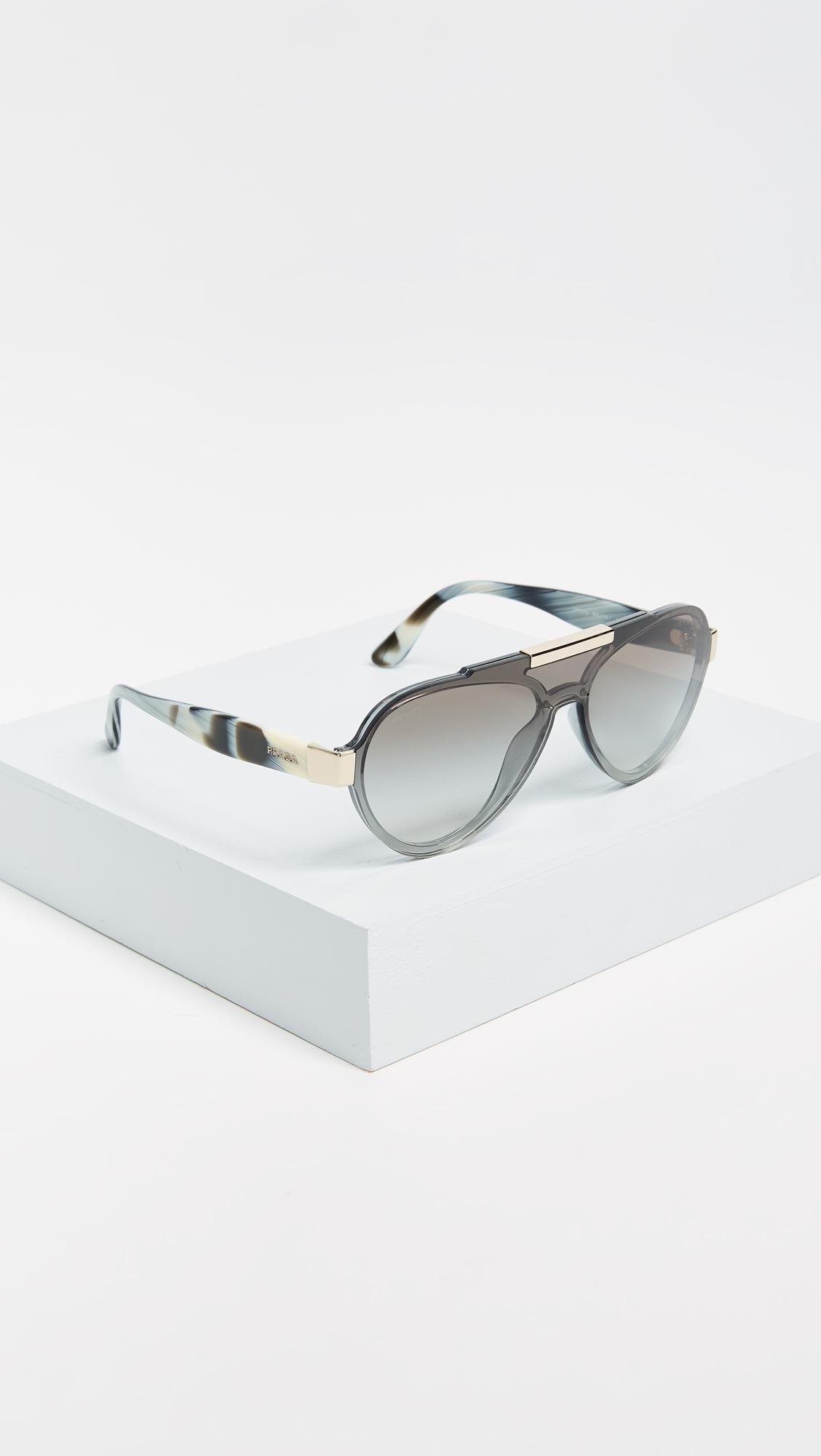 Prada Man Special Sunglasses in Grey/Grey (Grey)
