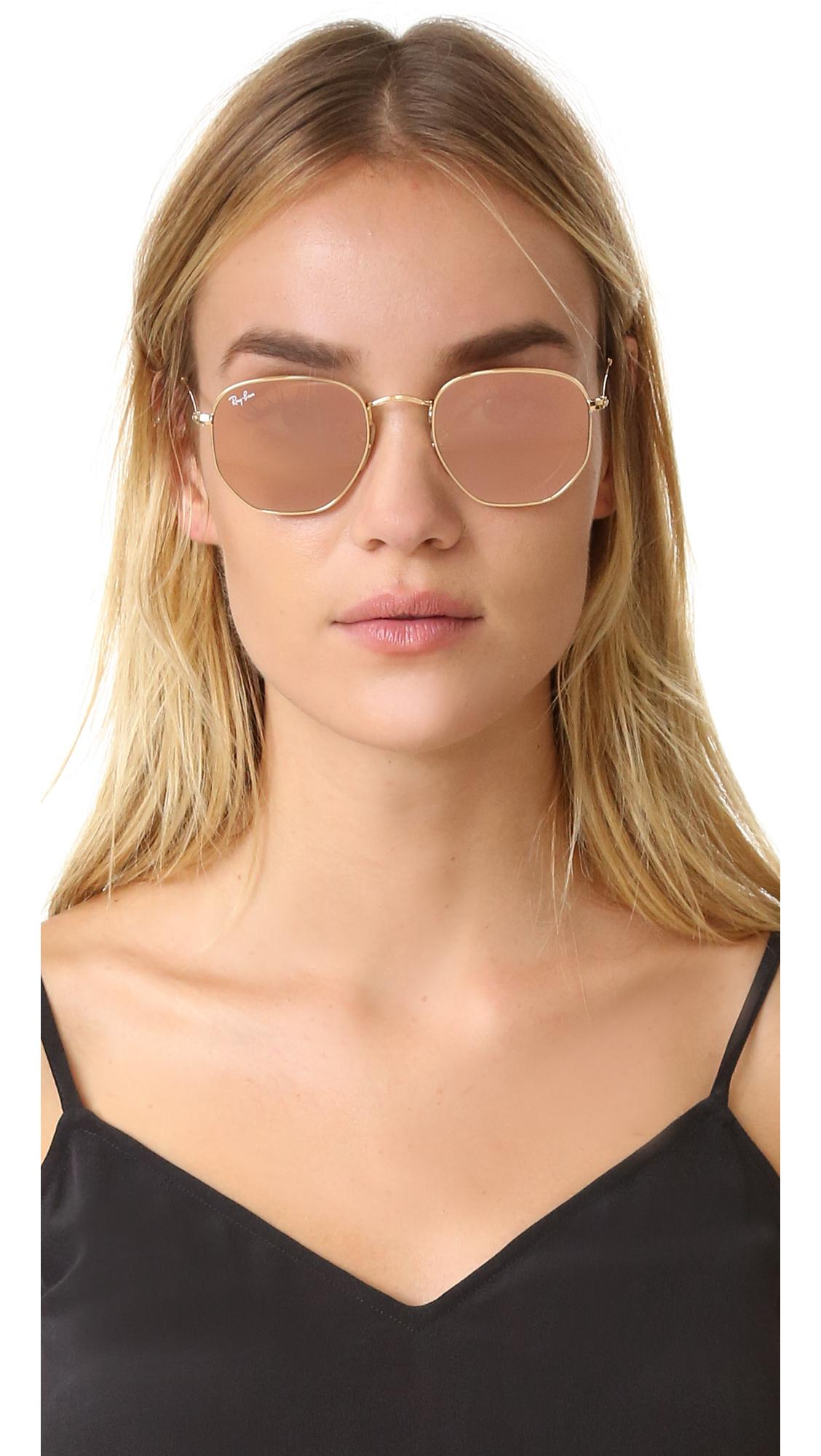 92dbed98ba9 Ray-Ban - Multicolor Octagon Mirrored Sunglasses - Lyst. View fullscreen