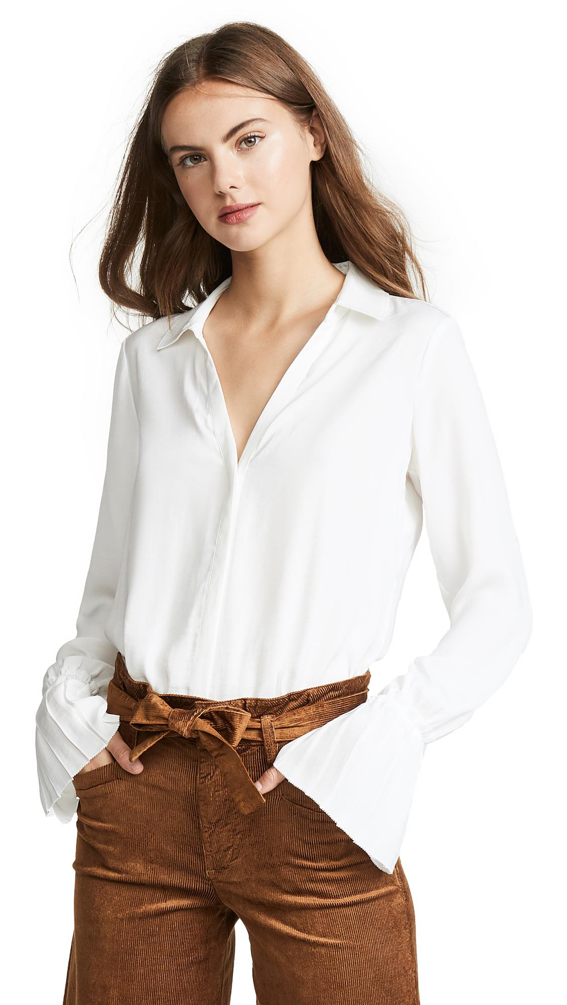 7f325270c08 Lyst - PAIGE Abriana Shirt in White