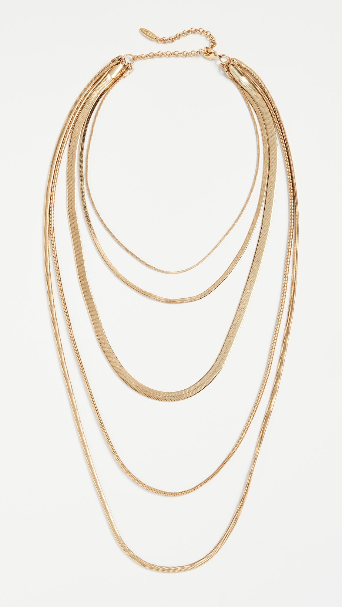 Luv AJ The Cascading Snake Chain Necklace 7mOinMeKLr
