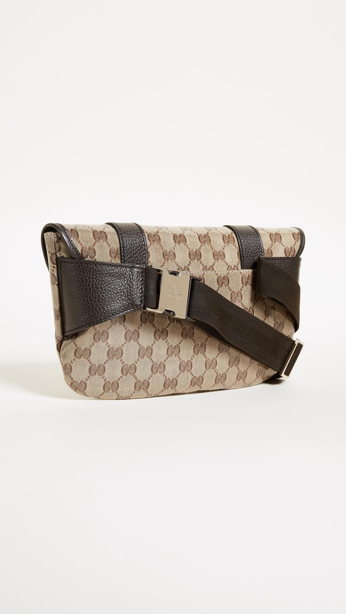 fed74fcc8cdd What Goes Around Comes Around Gucci Canvas Fanny Pack (previously Owned) -  Lyst