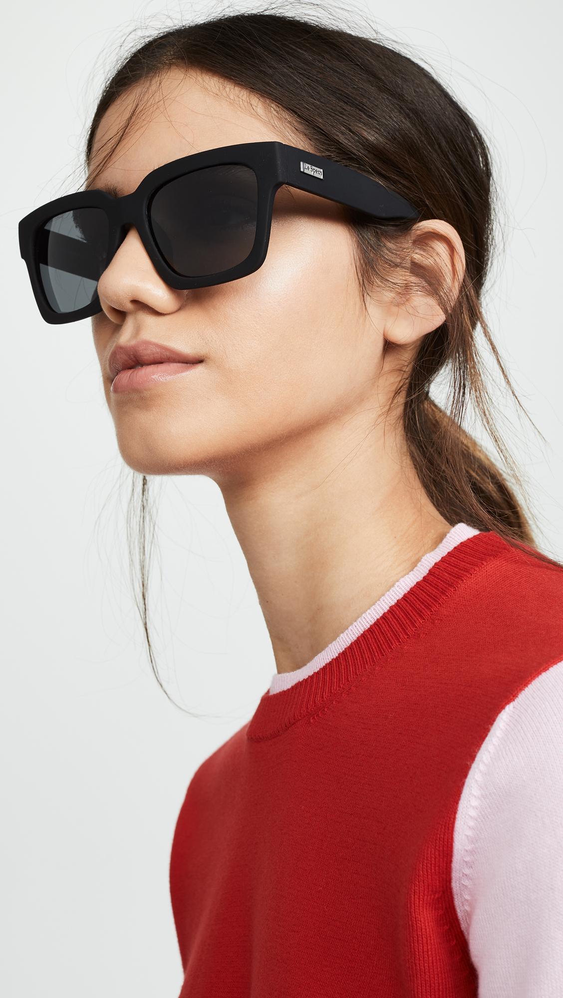 a381ceaf25 Le Specs - Black Weekend Riot Polarized Sunglasses - Lyst. View fullscreen