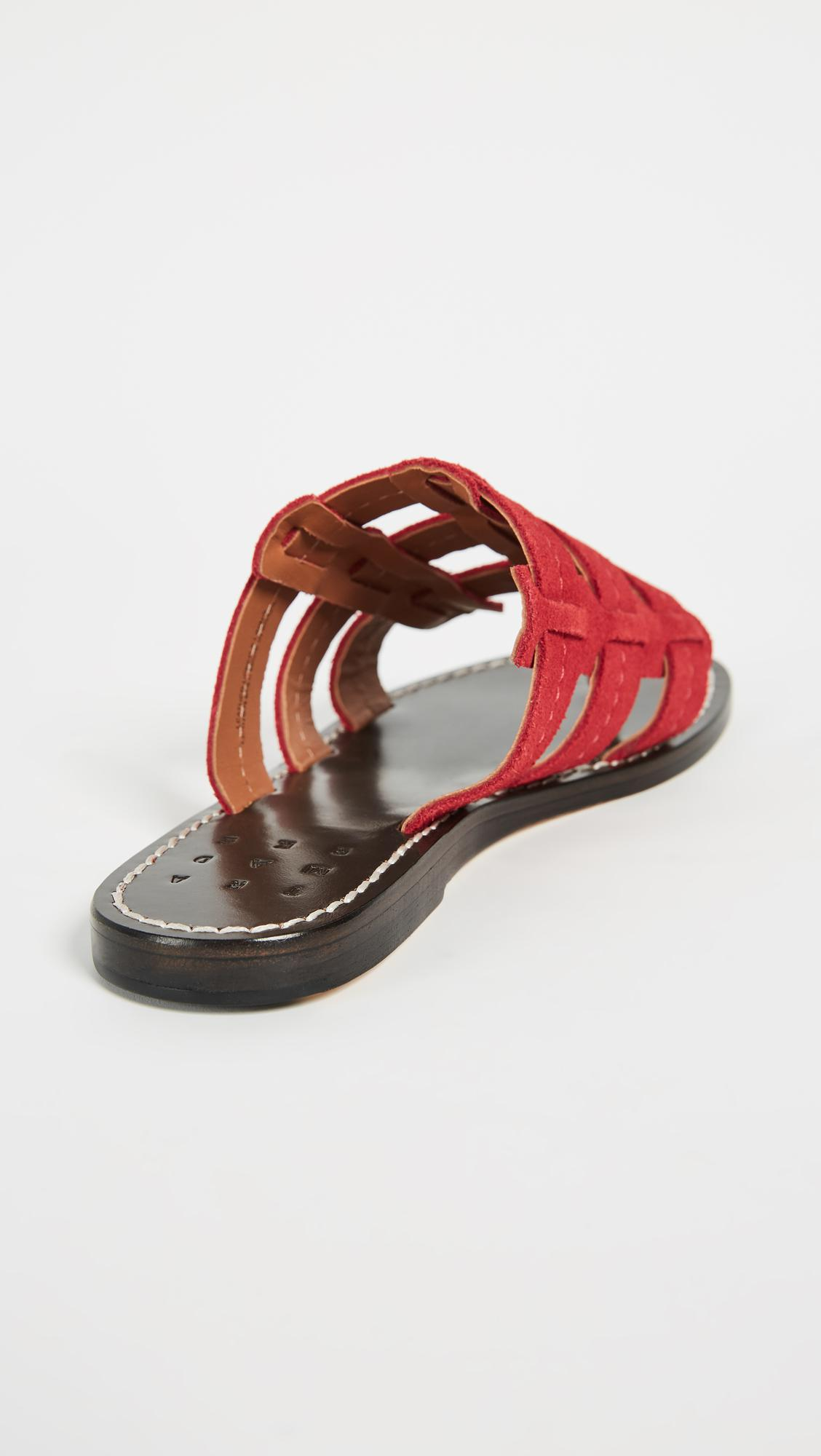 Cage Suede Sandals - Red Trademark DnMxTf