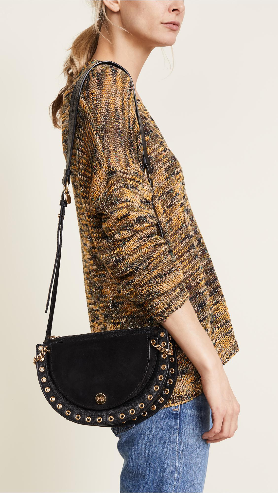 b76541d3e3 See By Chloé Leather Kriss Medium Shoulder Bag in Black - Lyst