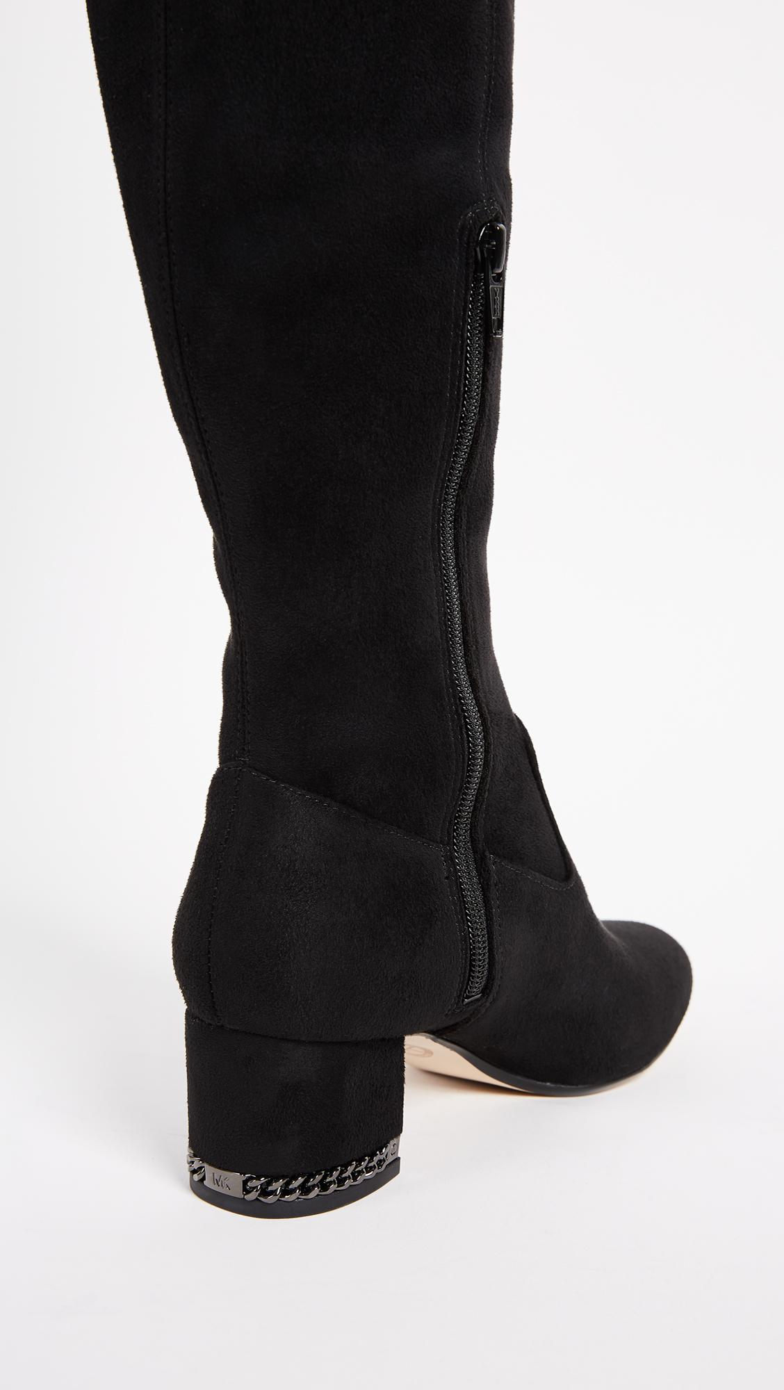 Lyst Michael Michael Kors Jamie Over The Knee Boots In Black