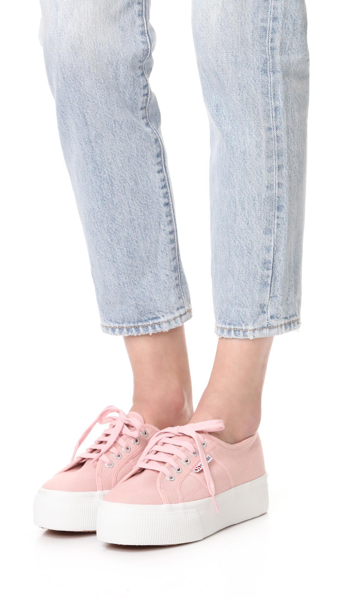 b2e0097270e Superga - Pink 2790 Platform Sneakers - Lyst. View fullscreen