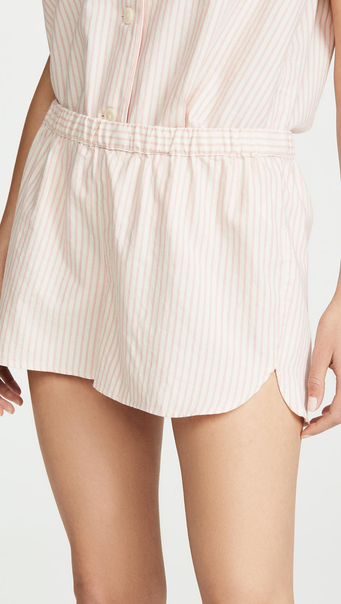 9e97f1ef8cf Lyst - Madewell Bedtime Pajama Shorts In Allspice Stripe