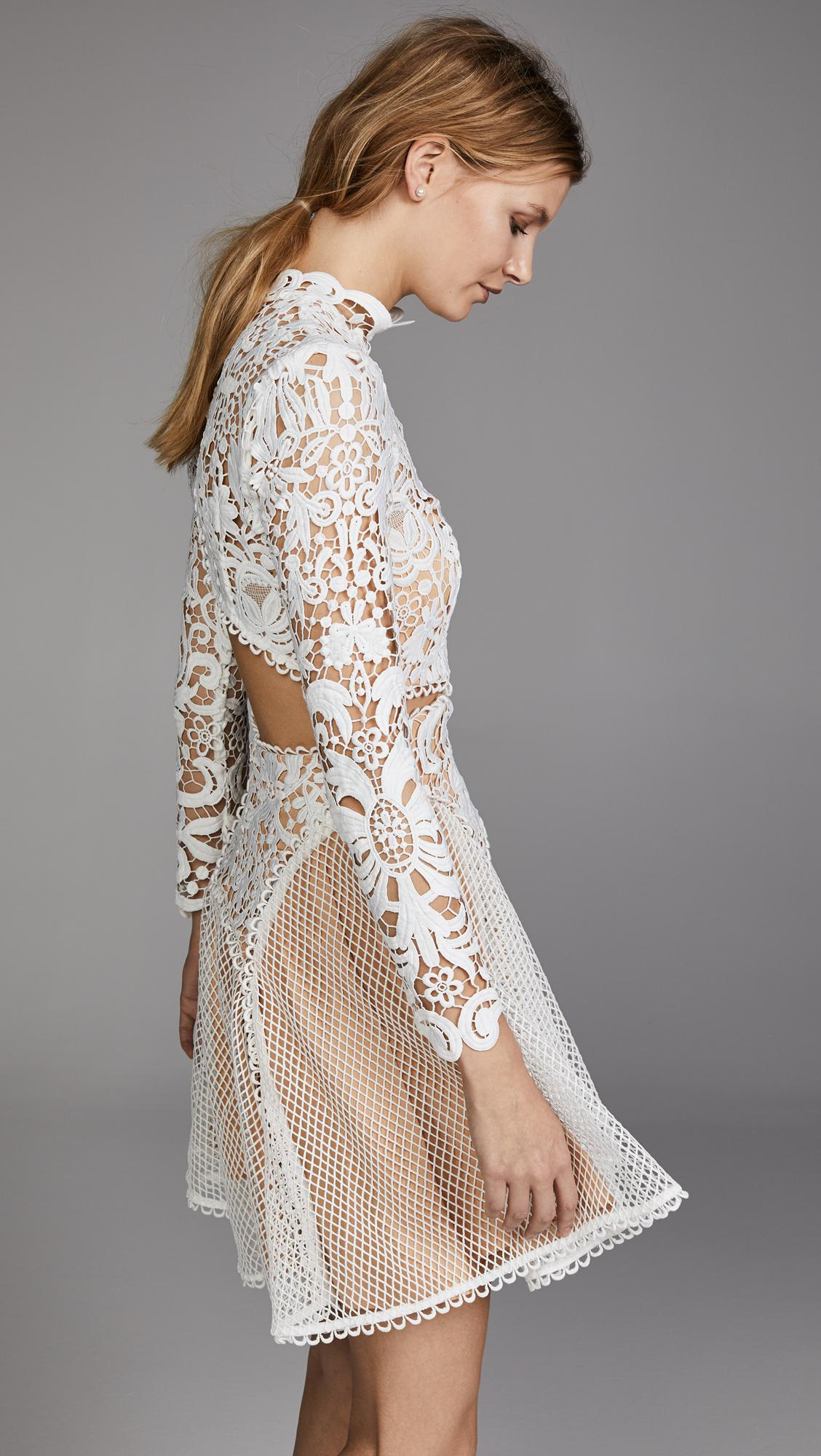 Thurley Tulle Enchanted Garden Mini Dress In White Lyst