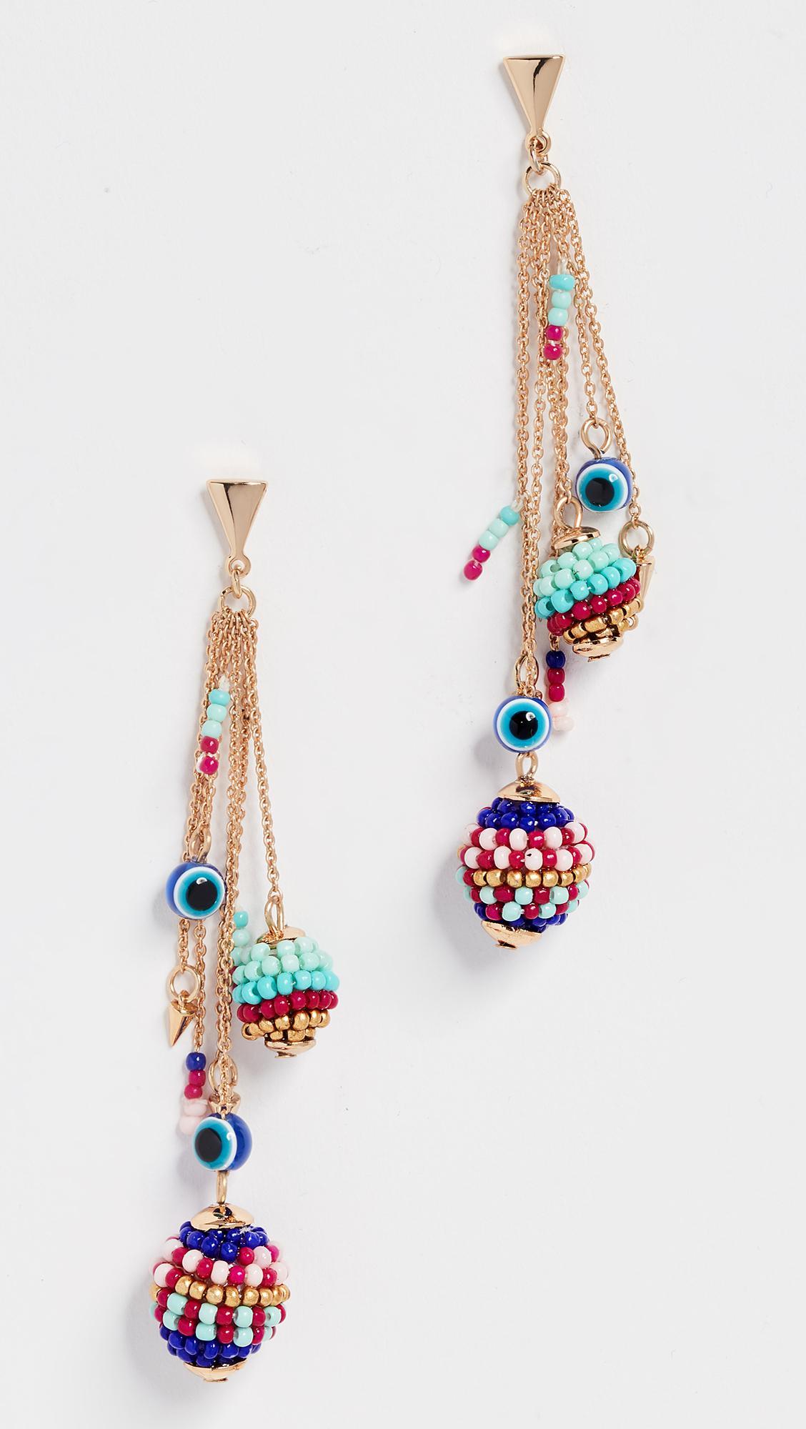 Blair Beaded Ball Earrings in Metallic Gold Rebecca Minkoff Bc4PtEWI