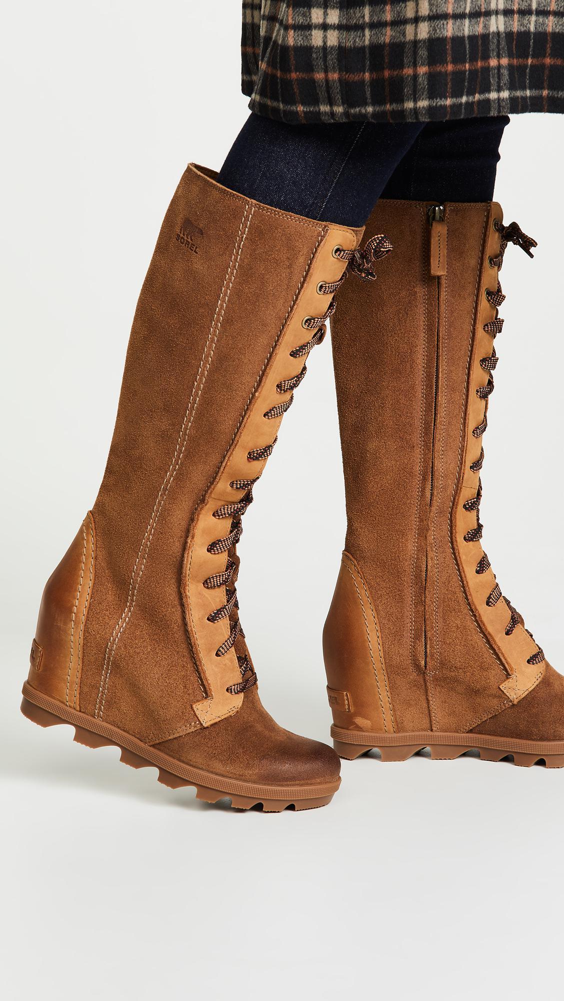 23a86d3c1ba7 Sorel - Brown Joan Of Arctic Wedge Ii Tall Boots - Lyst. View fullscreen