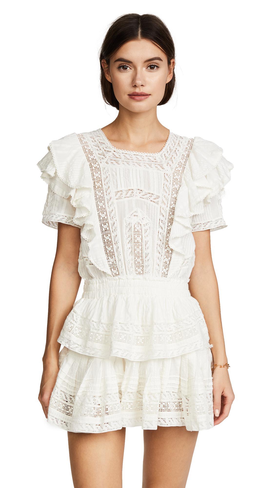 Lyst Loveshackfancy Stella Dress In White