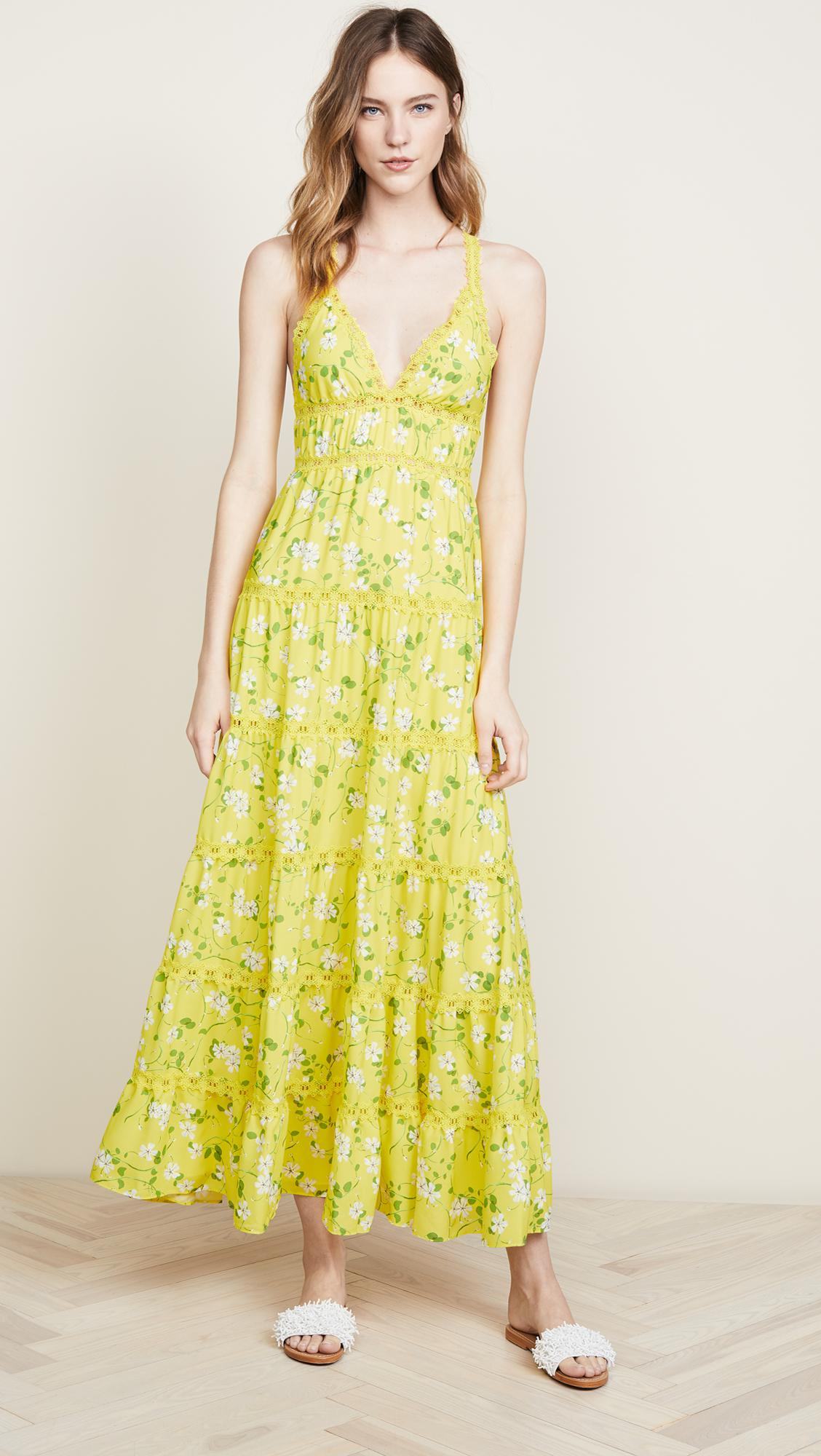 01111cbd0547 Alice + Olivia Karolina Maxi Dress in Yellow - Lyst